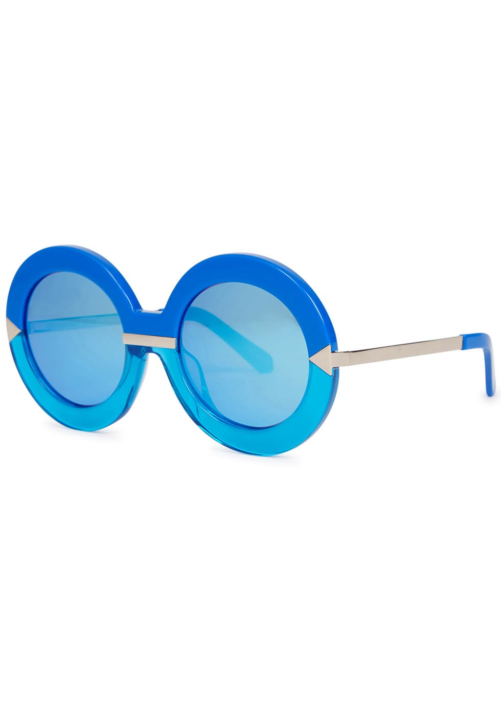 Karen Walker Hollywood Pool Round-frame Sunglasses in Blue - Lyst