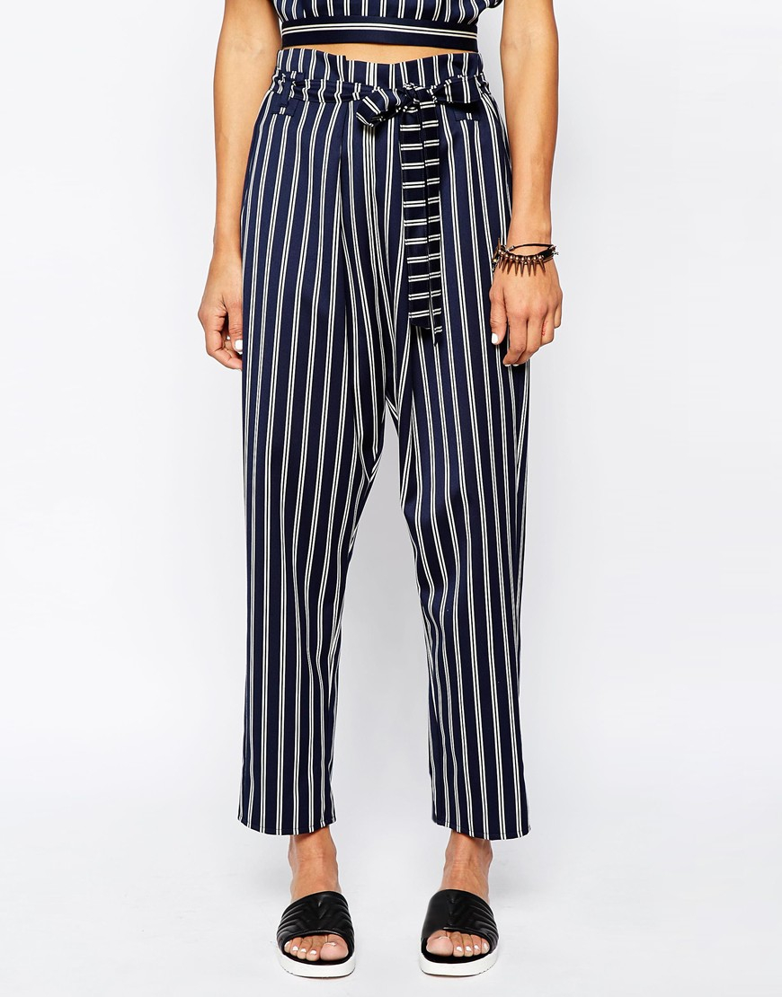 asos-navy-peg-trousers-in-stripe-with-pa
