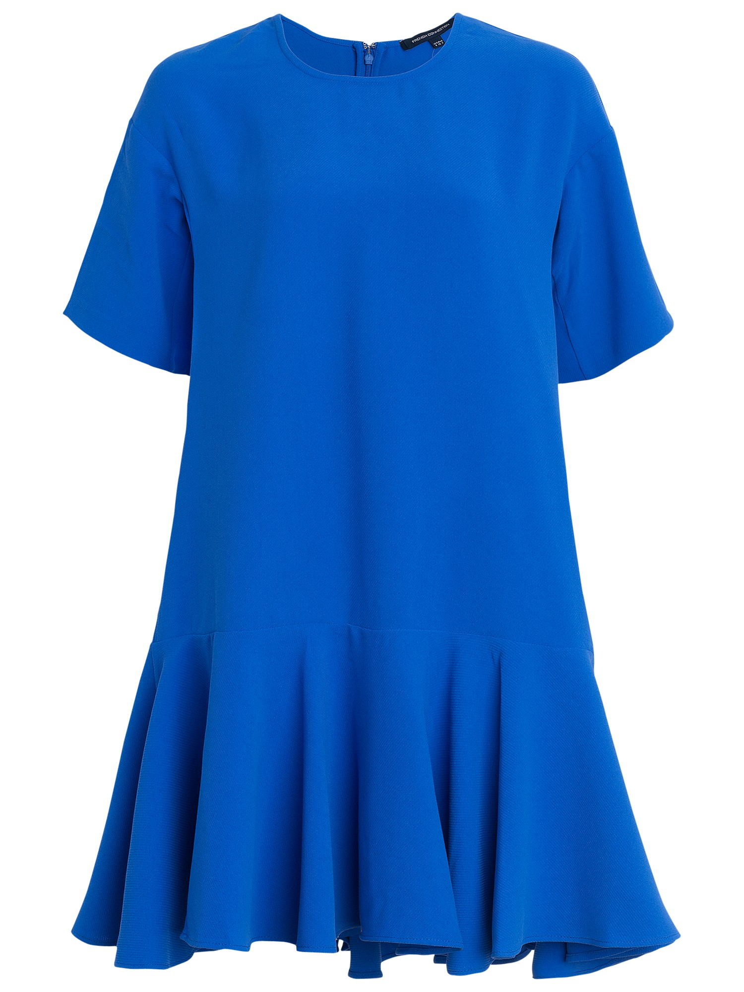 connection arrow crepe oversized dress in blue lyst