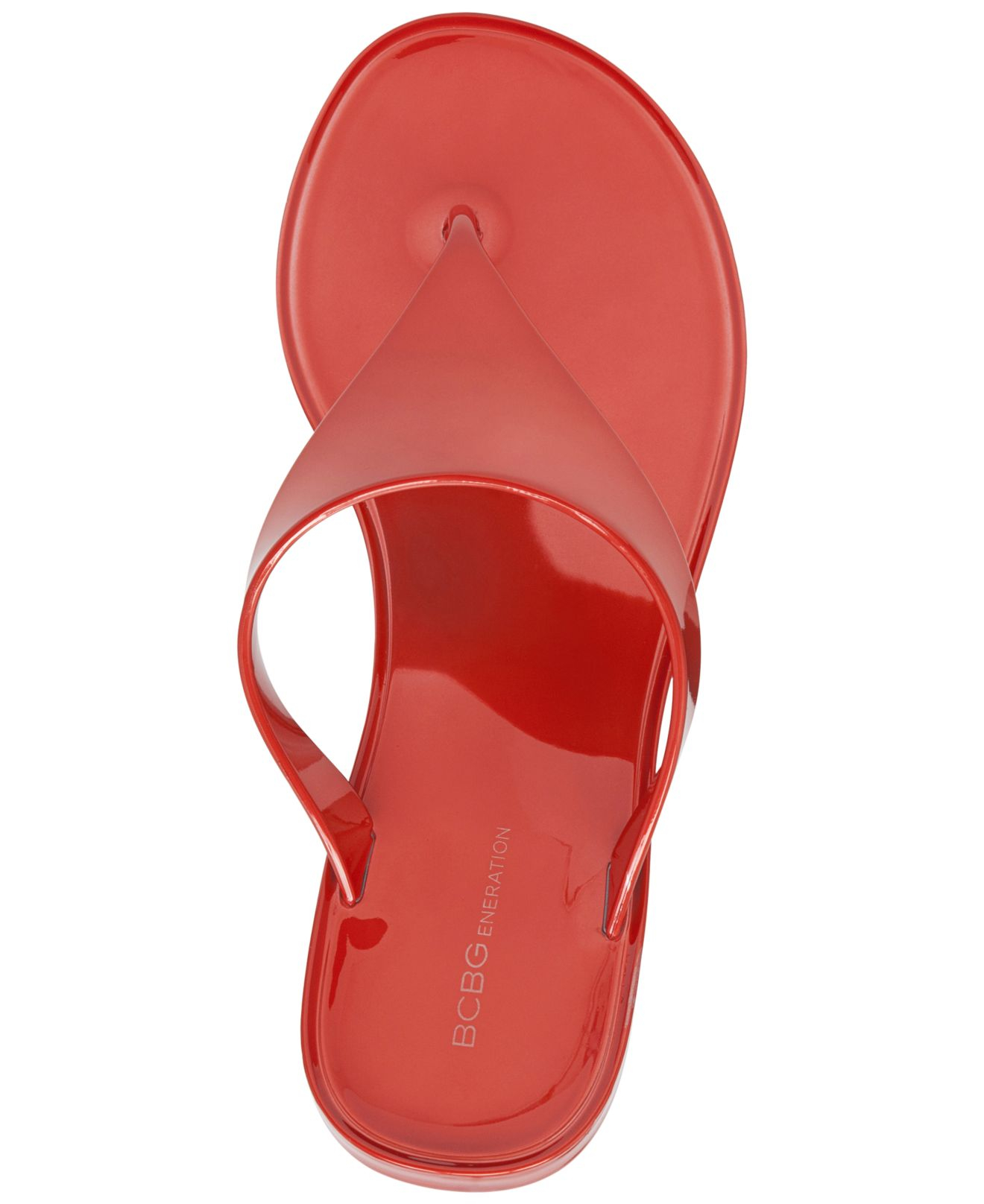 Lyst Bcbgeneration Starr Flat Thong Sandals In Red