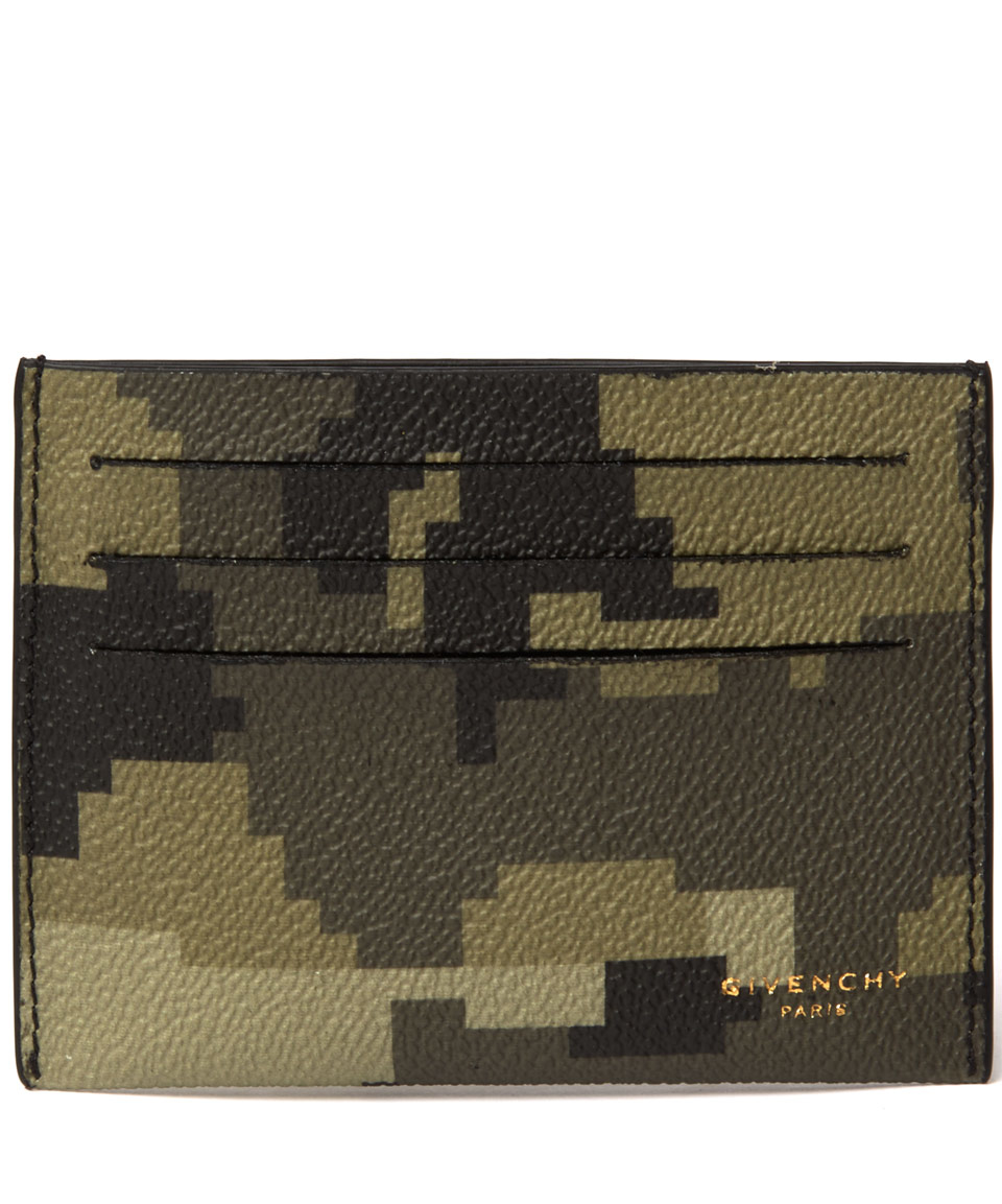 Givenchy Camouflage Card Holder in Green for Men | Lyst