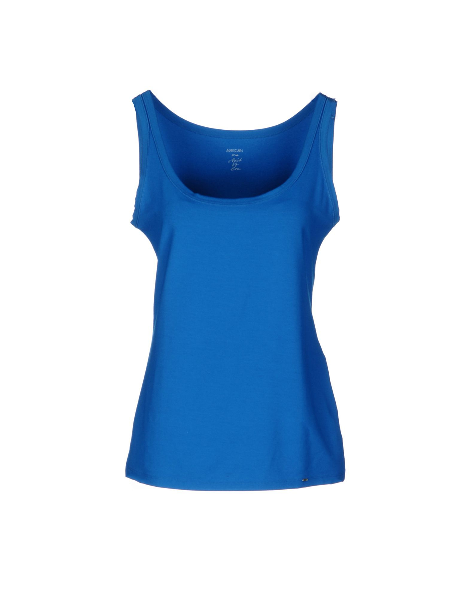 marc cain sleeveless t shirt in blue azure lyst. Black Bedroom Furniture Sets. Home Design Ideas