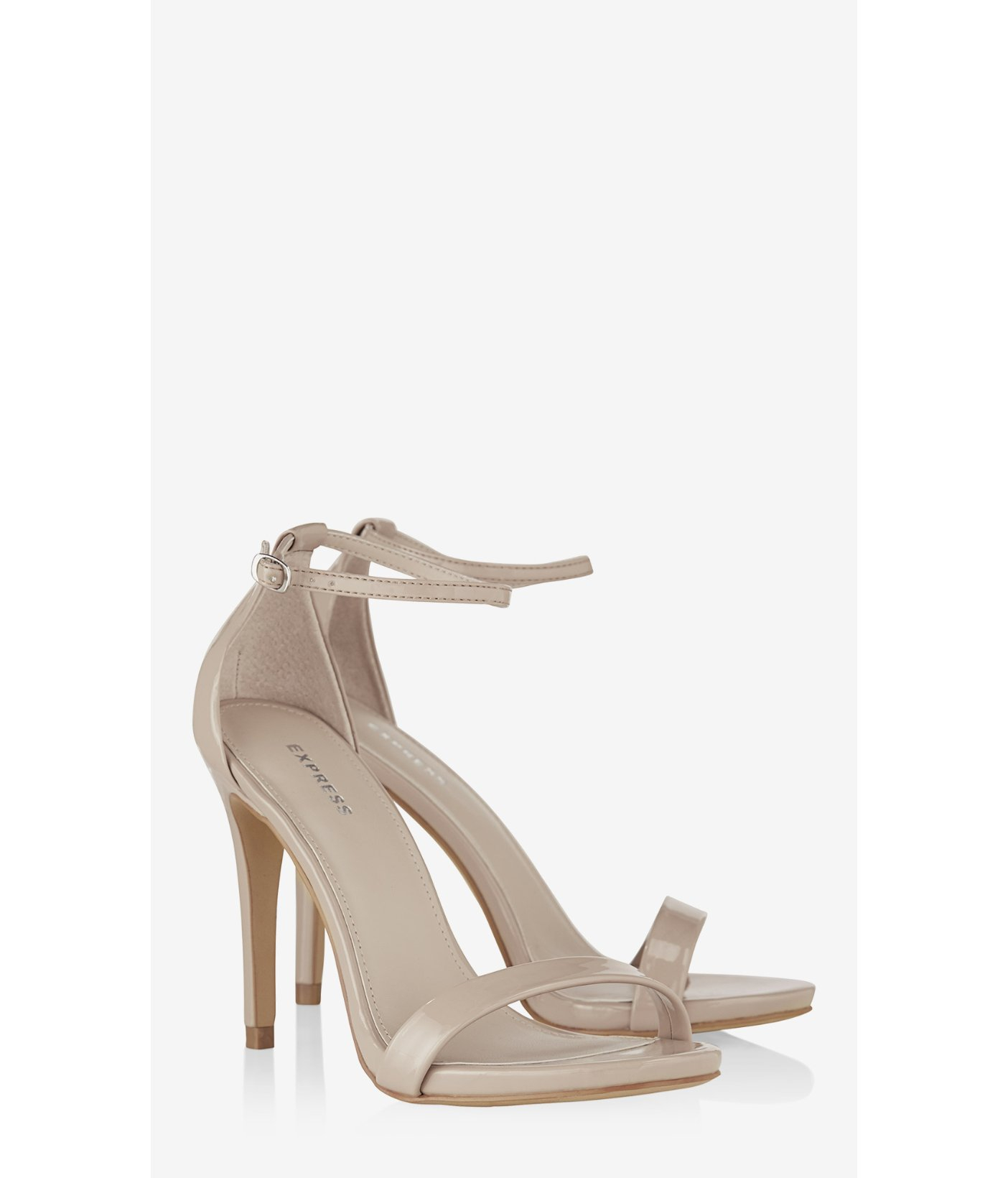 24e8c120a4be Lyst - Express Sleek Patent Runway Sandal in Natural