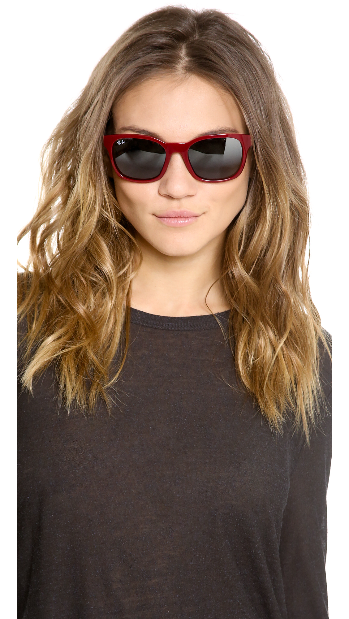 f1970edc43cf1 Lyst - Ray-Ban Oversized Square Sunglasses in Red