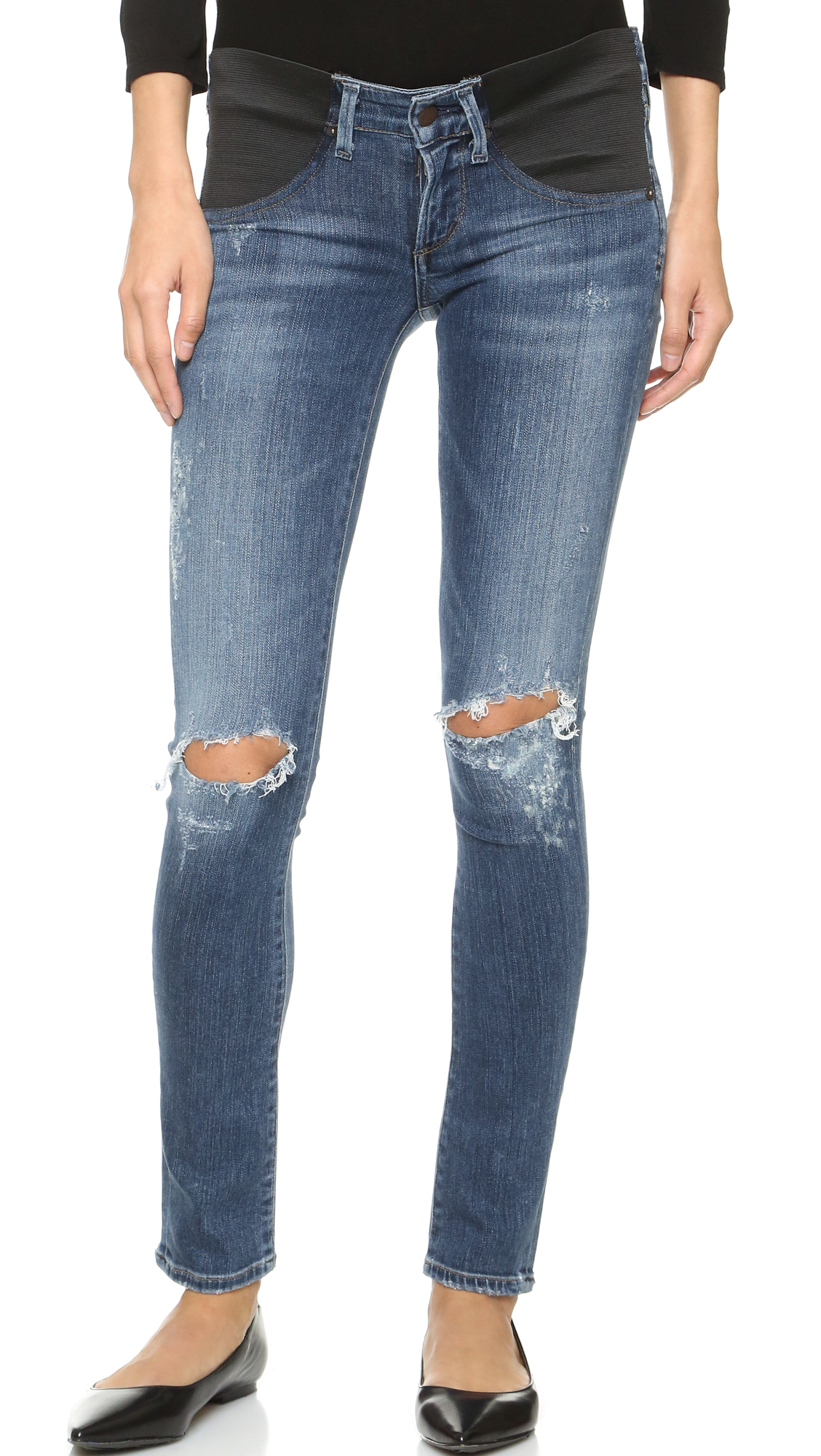 9953bf908b3ba Citizens of Humanity Maternity Racer Skinny Jeans in Blue - Lyst