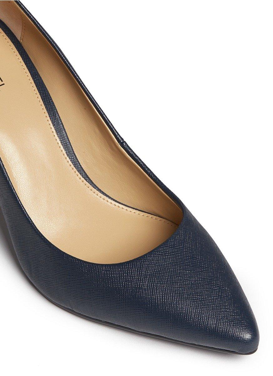 michael kors 39 flex 39 saffiano leather pumps in blue lyst. Black Bedroom Furniture Sets. Home Design Ideas