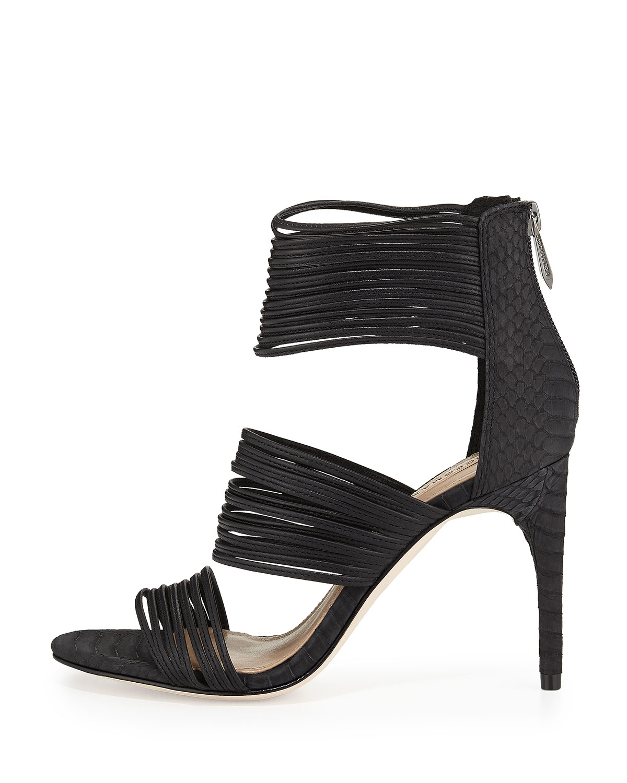 90c61ddbc13 Lyst - BCBGMAXAZRIA Pex Strappy Sandal in Black