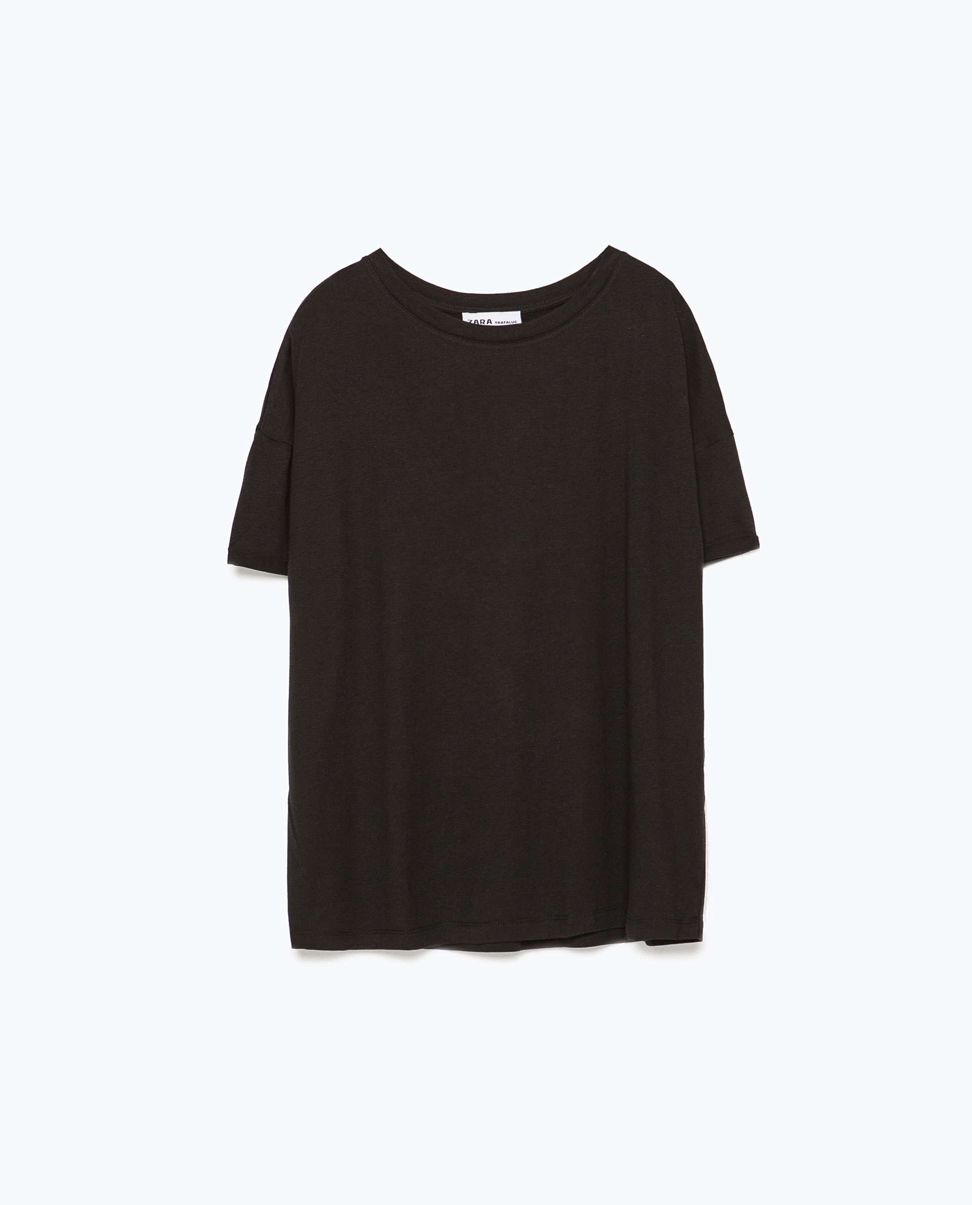 Zara Paisley Print T Shirt In Black Lyst