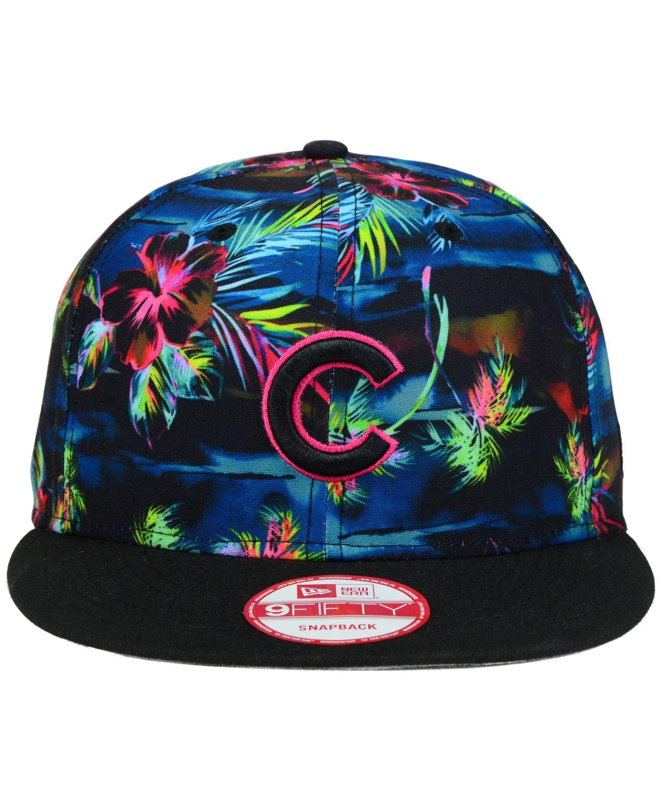 big sale 1184f e89bf ... canada lyst ktz chicago cubs dark tropic 9fifty snapback cap in blue  for men 5809e e425c