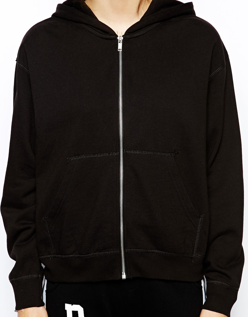 Cheap monday Hoodie in Black | Lyst