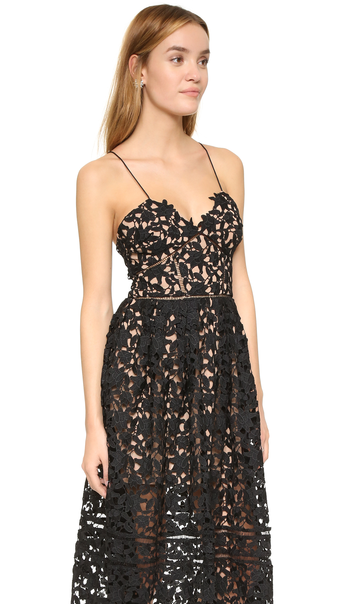 be9d338bd1e07 Self-Portrait Azaelea Dress in Black - Lyst
