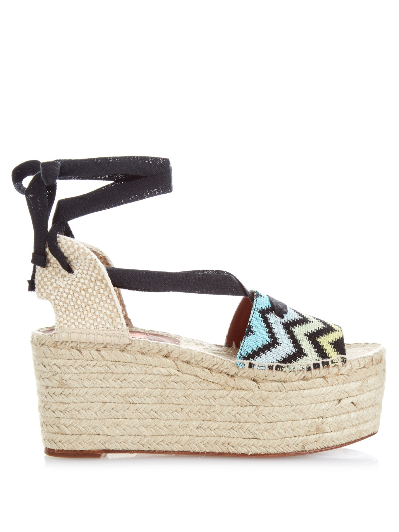 100% original cheap online Missoni Knit Wedge Sandals cheap sale 100% guaranteed cheap sale best place free shipping excellent V7NystRt