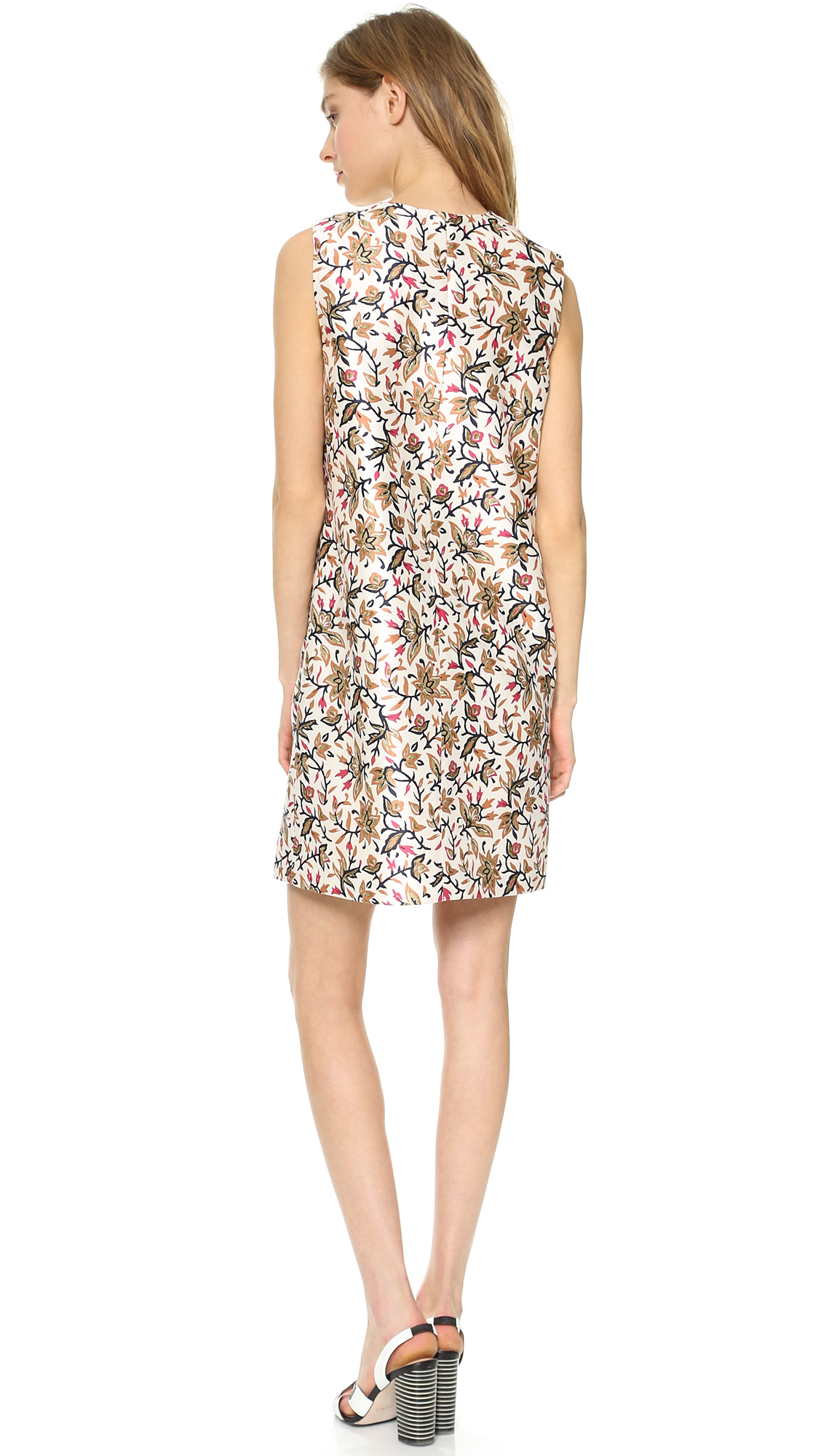 Tory Burch Embellished Strap Floral Dress Lyst
