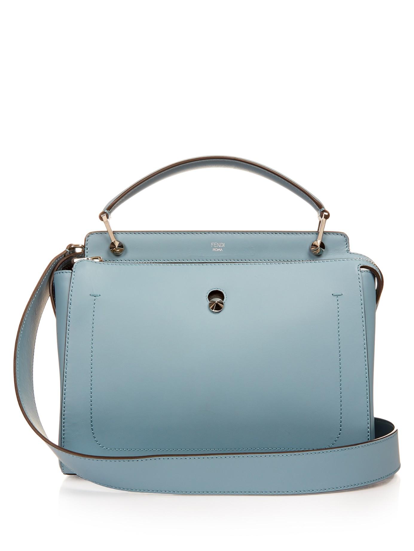 1949e2b0f2 Fendi Dotcom Leather Bag in Blue - Lyst