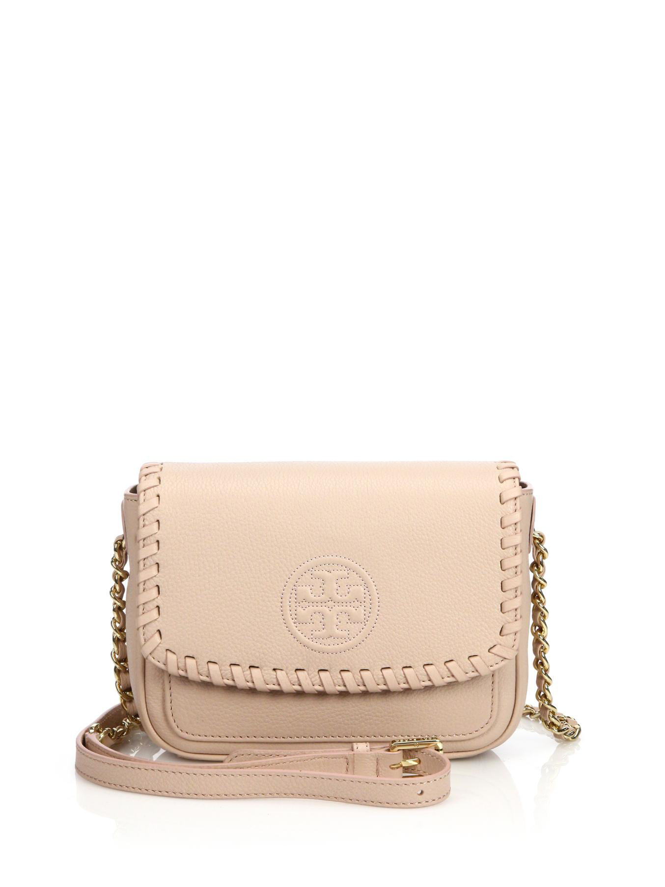 a57687ccf9474 Lyst - Tory Burch Marion Mini Crossbody Bag in Brown