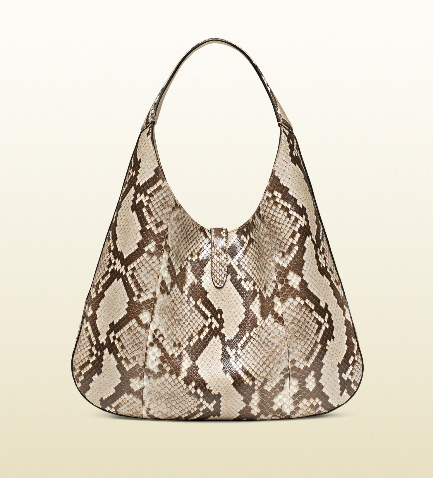 Lyst - Gucci Jackie Soft Python Hobo in Natural 34bca3a553