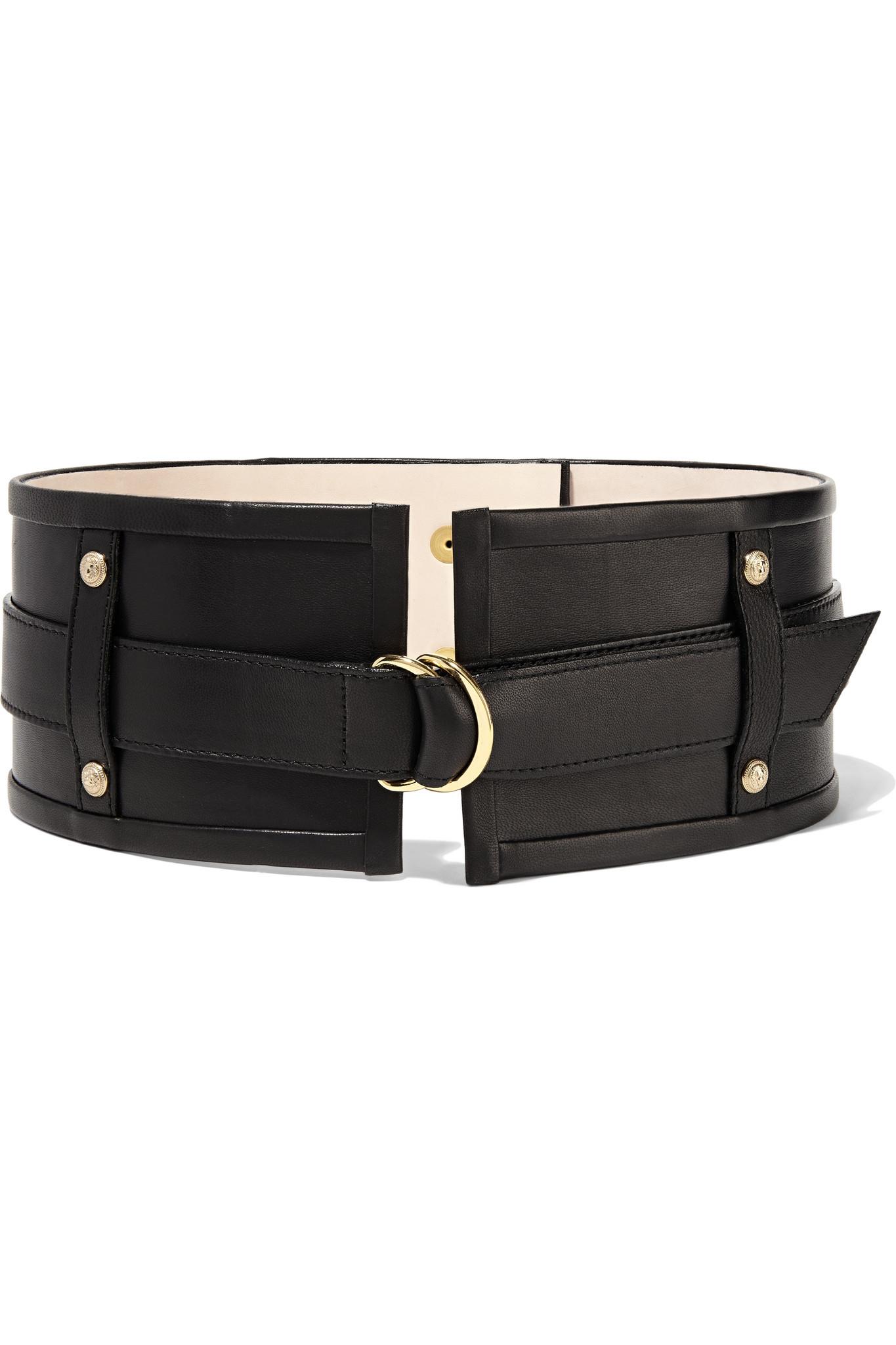Chain-embellished leather waist belt Balmain hN3SySr840