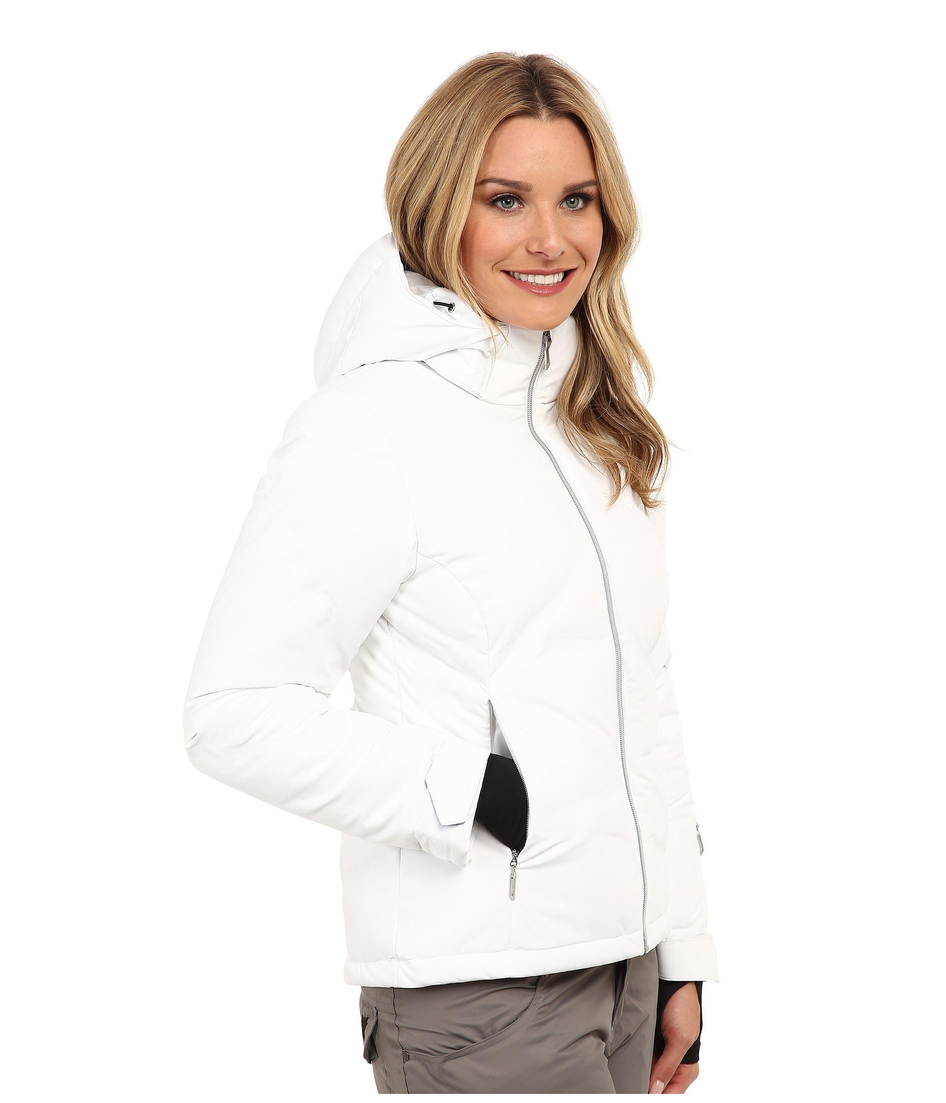 81daf1fc5b Lyst spyder breakout down jacket in white jpg 1920x2240 White down jacket  spyder