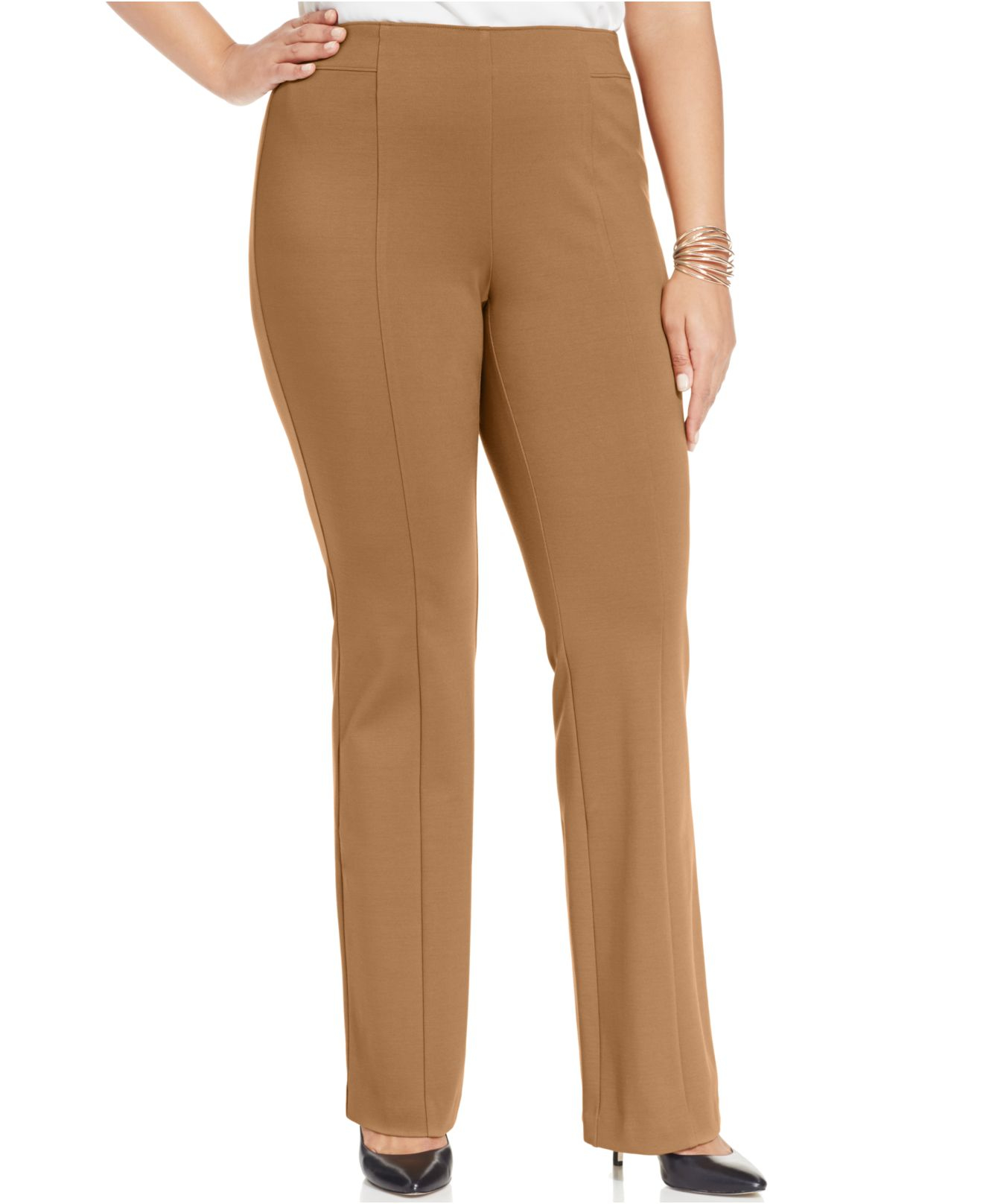 Shop pull on silk pants at Neiman Marcus, where you will find free shipping on the latest in fashion from top designers. More Details Caroline Rose Straight-Leg Silk Crepe Pull-On Pants, Plus Size Details Caroline Rose pants in silk crepe. Elasticized waistband. Relaxed fit. Straight legs. Pocketless design. Pull-on style. Unlined. Imported.