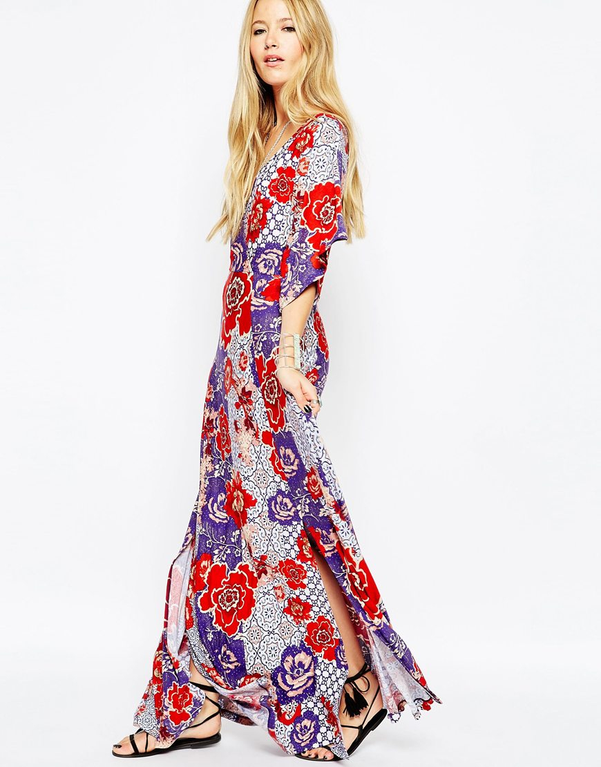 87bf7ebd9c7 Floral Wrap Maxi Dress Asos - Gomes Weine AG