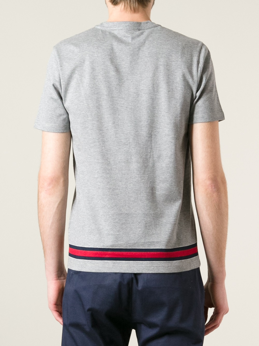 lyst gucci classic tshirt in gray for men. Black Bedroom Furniture Sets. Home Design Ideas