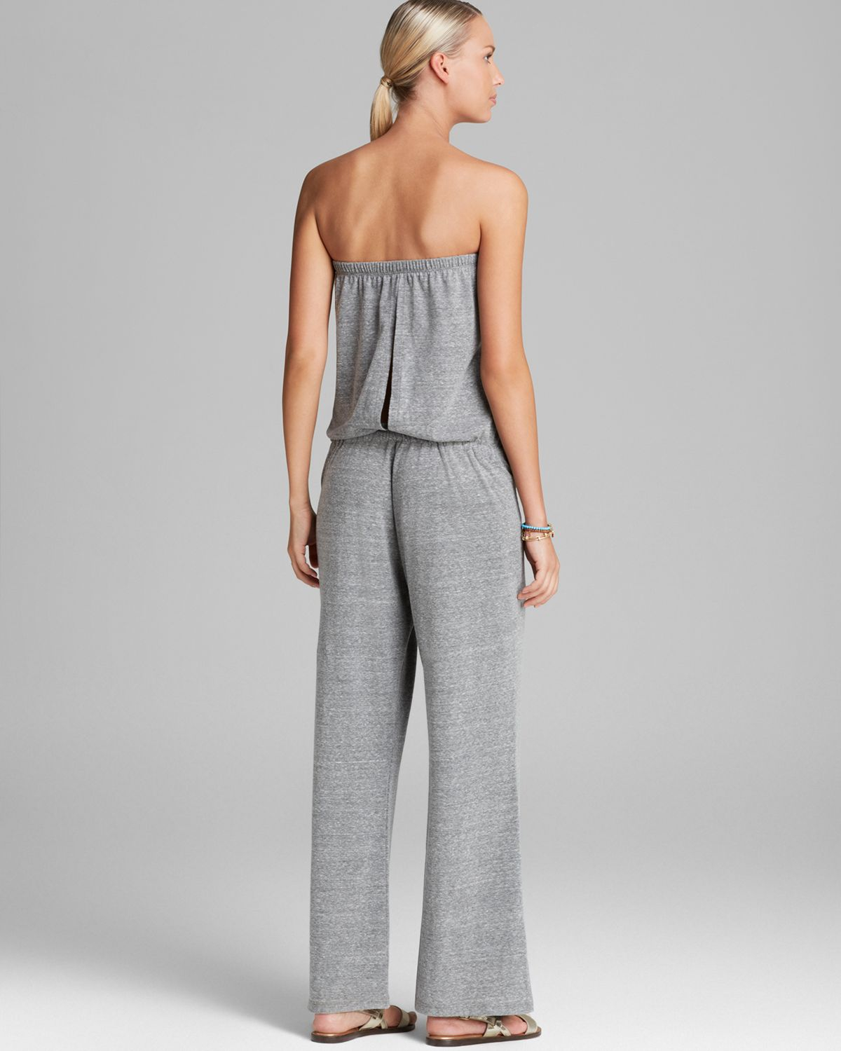 dbf505ad2ec64 Lyst - Lucky Brand French Tapestry Jumpsuit Swim Cover Up in Gray