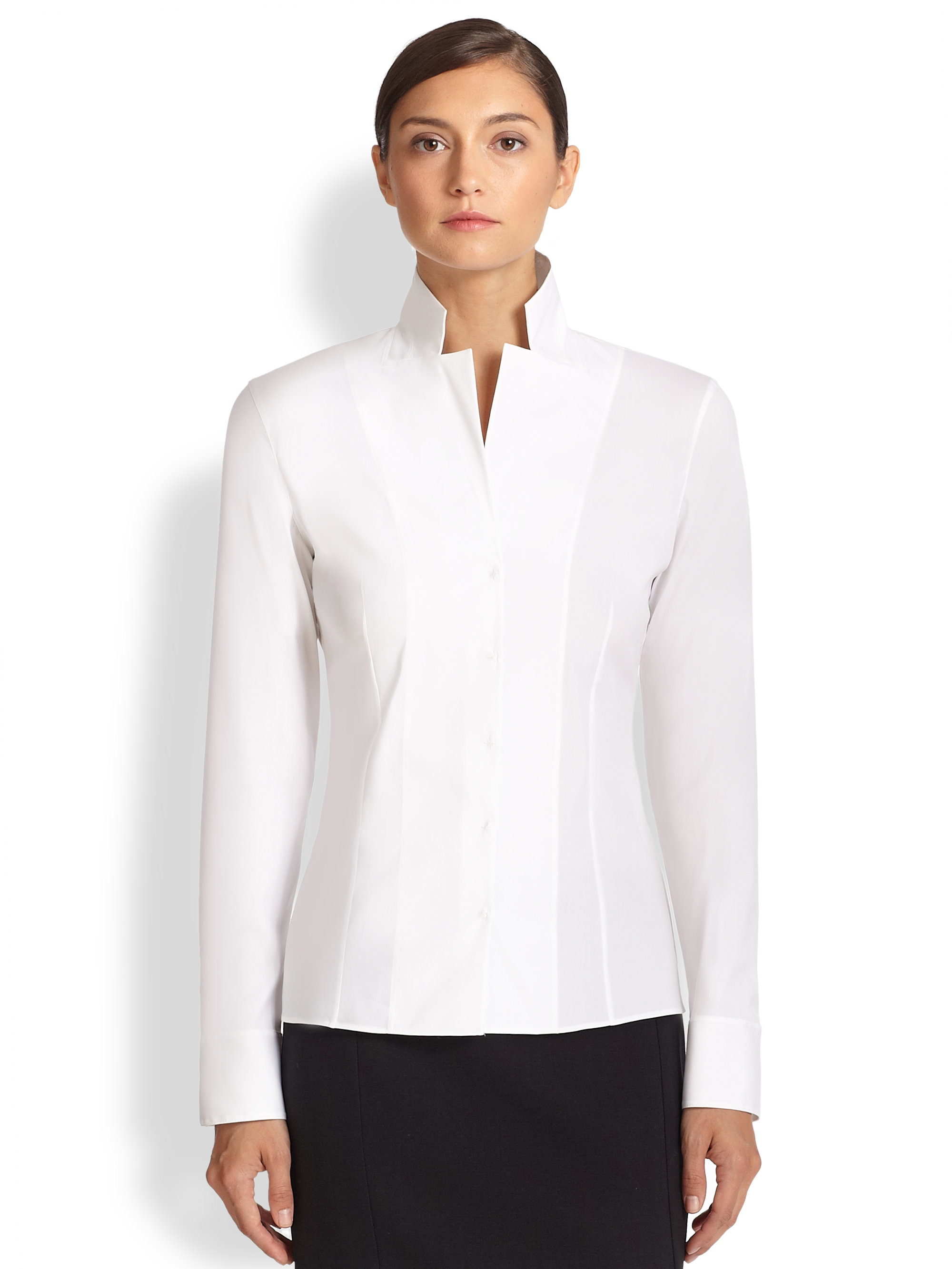 Find white blouses with black collar and cuffs at ShopStyle. Shop the latest collection of white blouses with black collar and cuffs from the most.