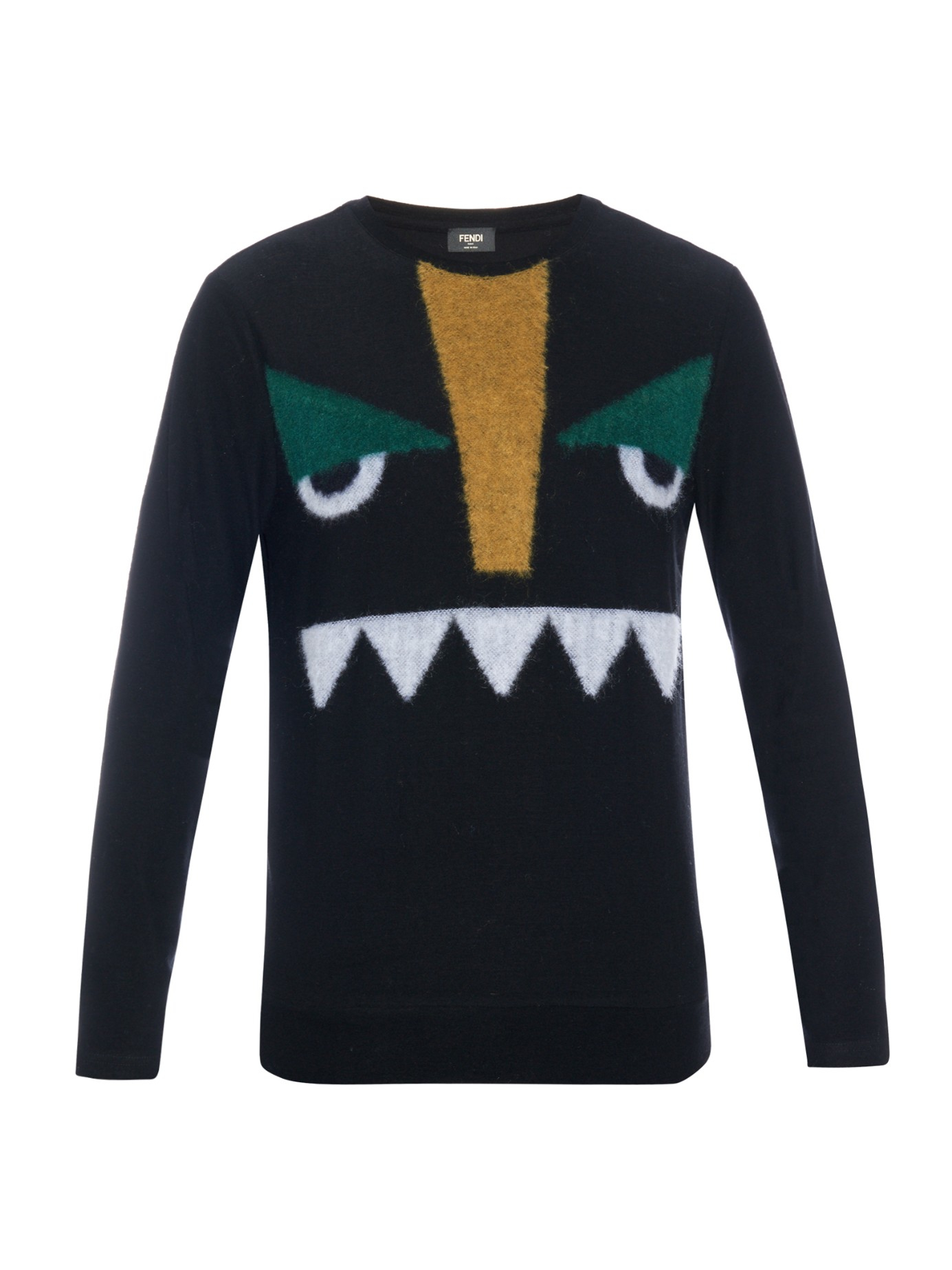 18ad7c763f ... get fendi bag bugs long sleeved t shirt in black for men lyst e2797  8a42a