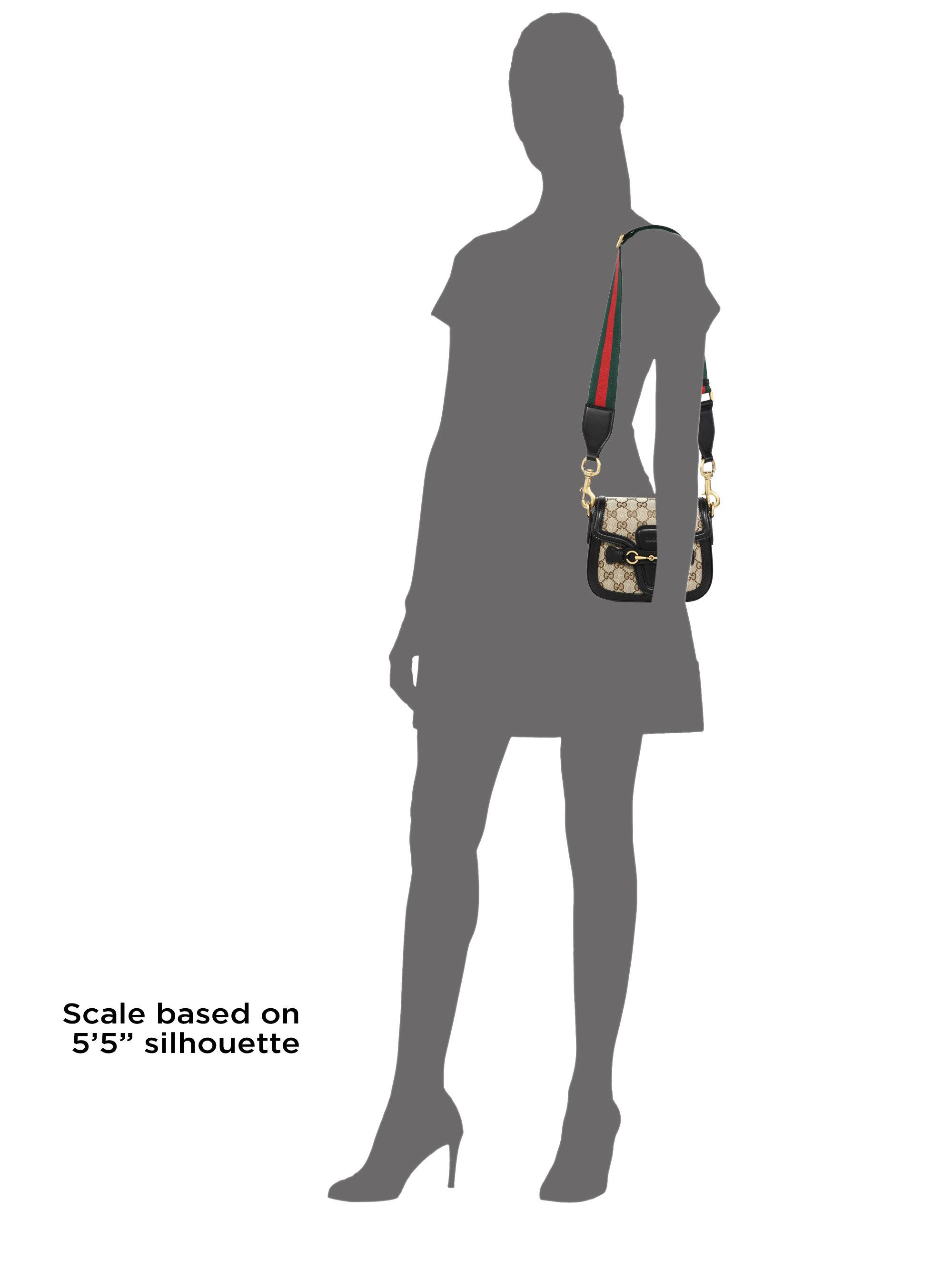 194e6e46b2cf Gucci Lady Web Small GG Supreme Canvas Shoulder Bag in Natural - Lyst