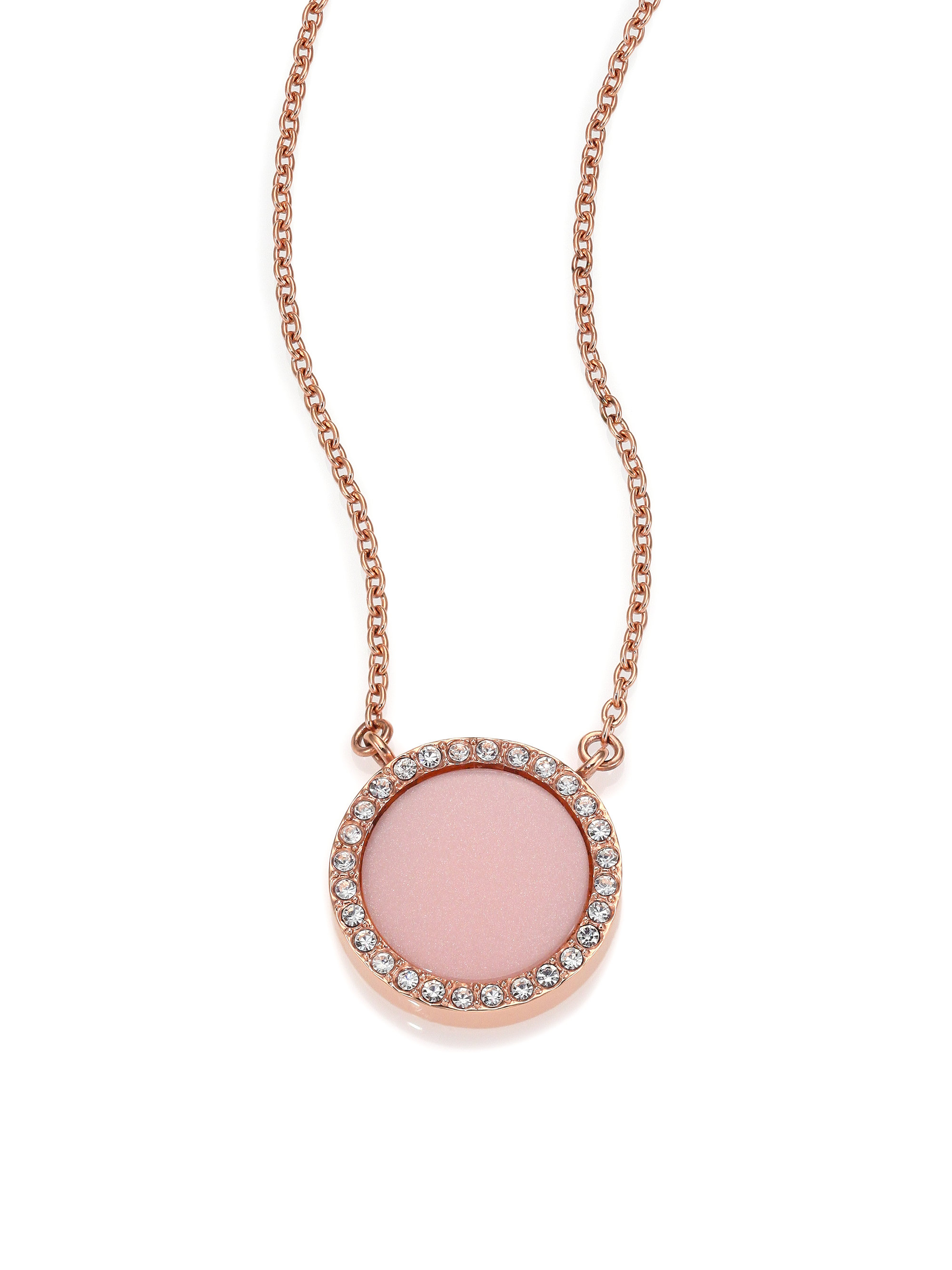 c6a7f8ee1bbda Michael Kors Rose Gold Circle Necklace - Necklace Wallpaper ...