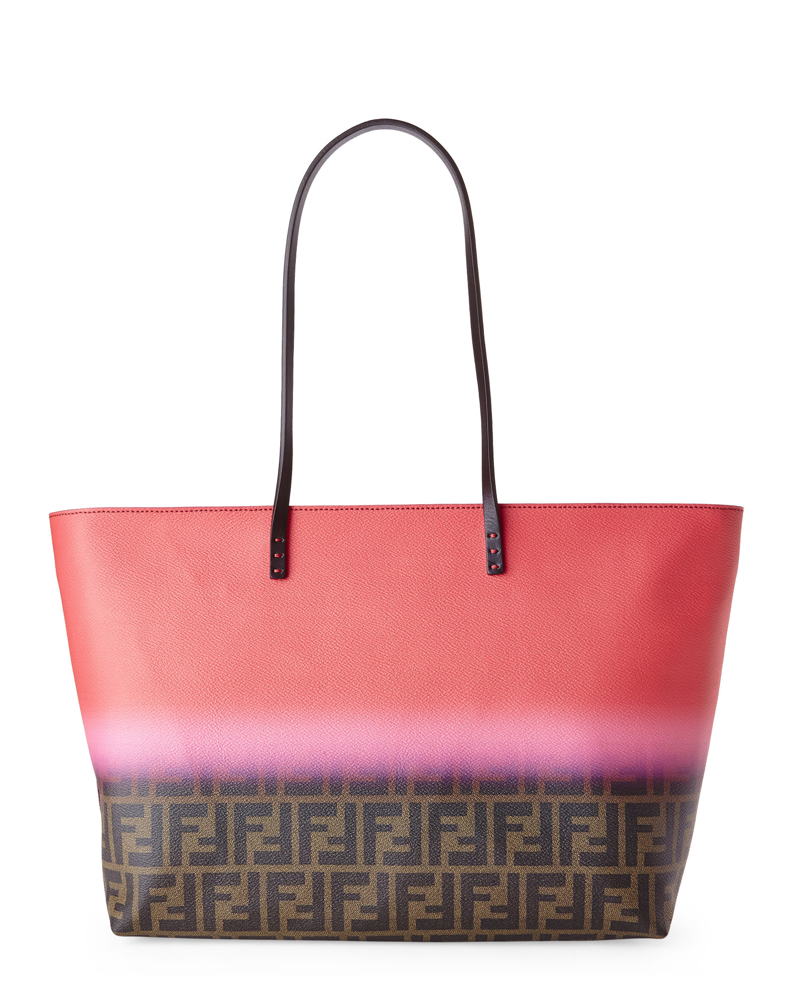 ... germany lyst fendi zucca ombr large roll tote in red 3b11d d4a52 a9972c0cd0855