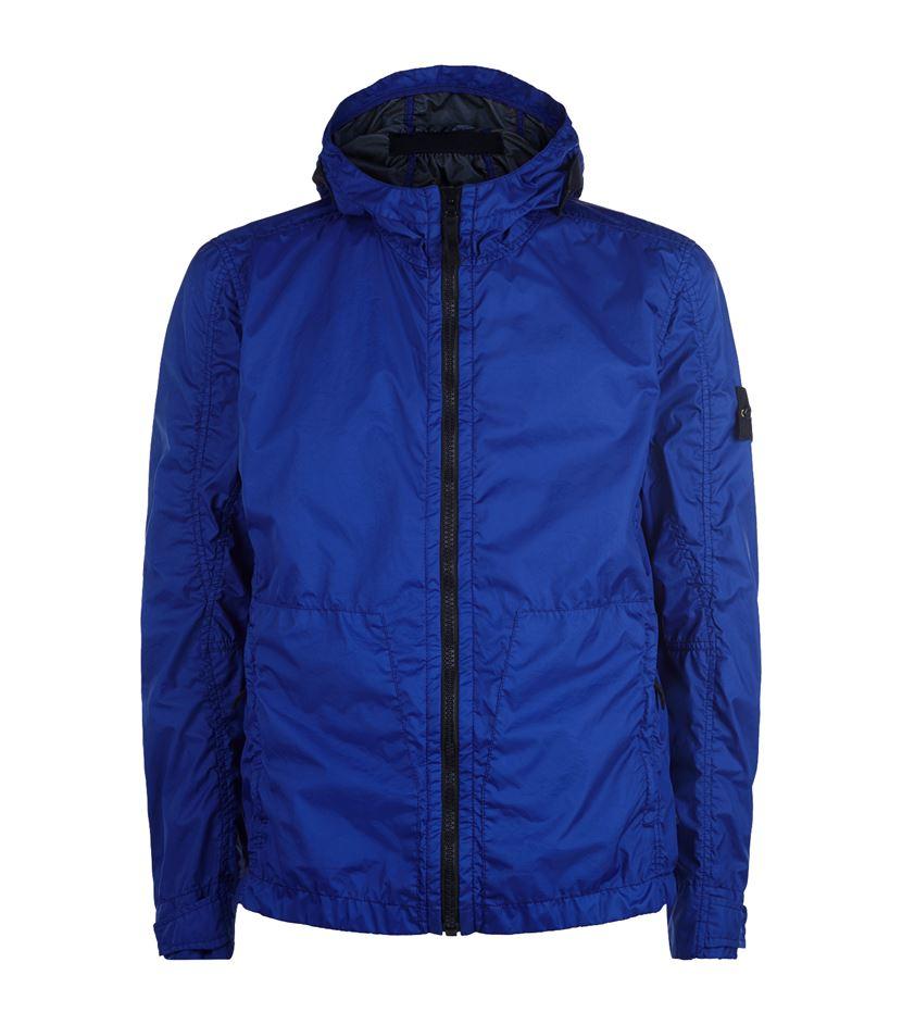 Stone island Membrana Waterproof Jacket in Blue for Men | Lyst