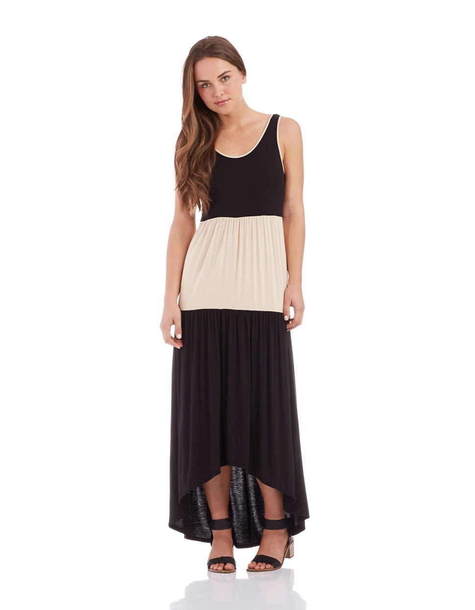 Colorblock maxi dress forever 21