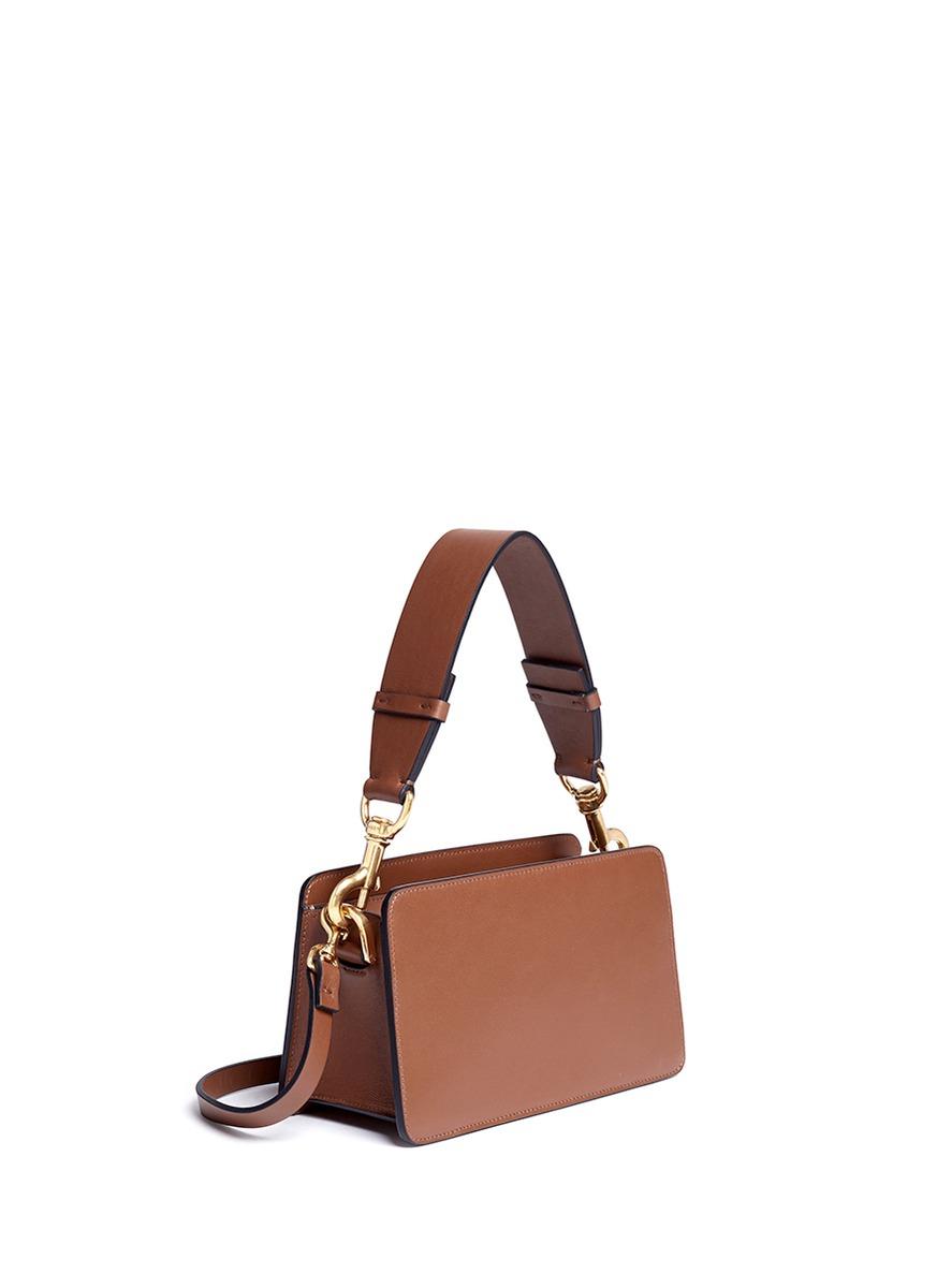 Lyst Lanvin Nomad Leather Box Shoulder Bag In Brown