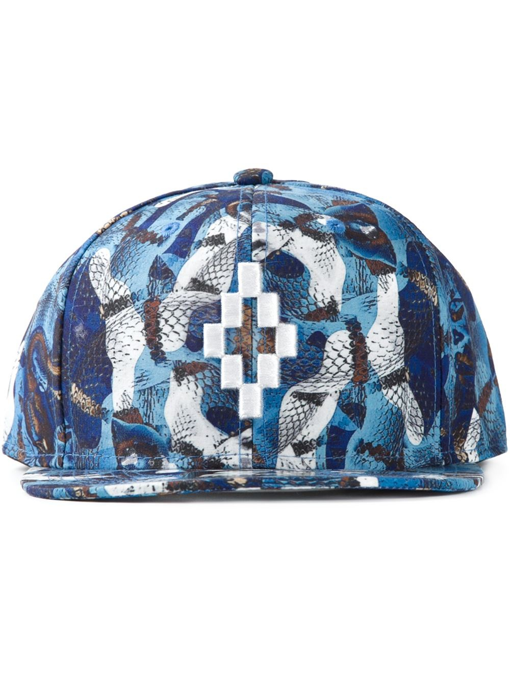 6ea5f788adc Marcelo Burlon Snake Print Cap in Blue for Men - Lyst