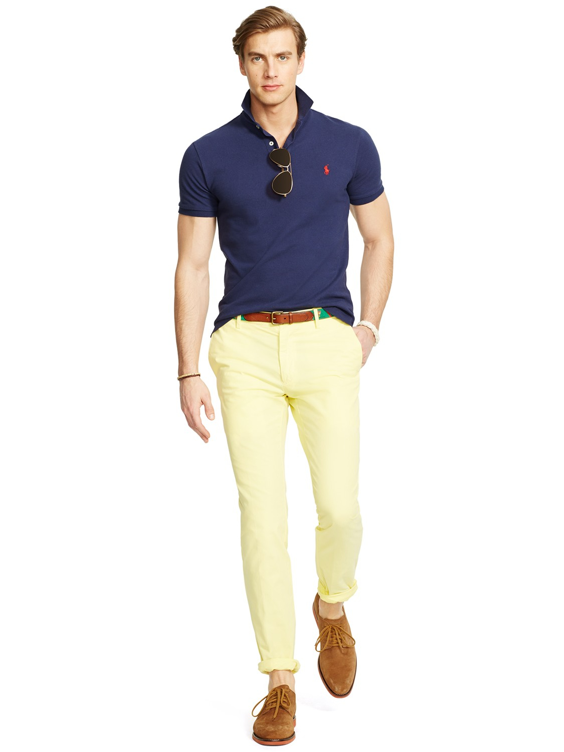 Lyst Polo Ralph Lauren Slim Newport Chinos In Yellow For Men