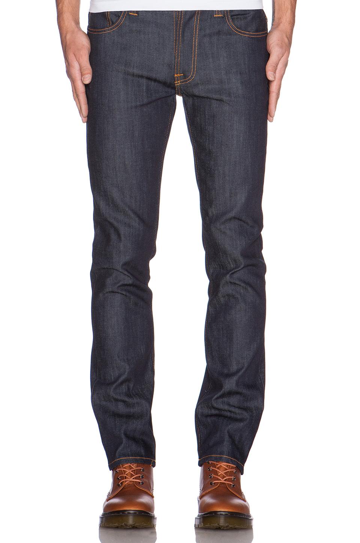 nudie jeans thin finn in blue for men lyst. Black Bedroom Furniture Sets. Home Design Ideas