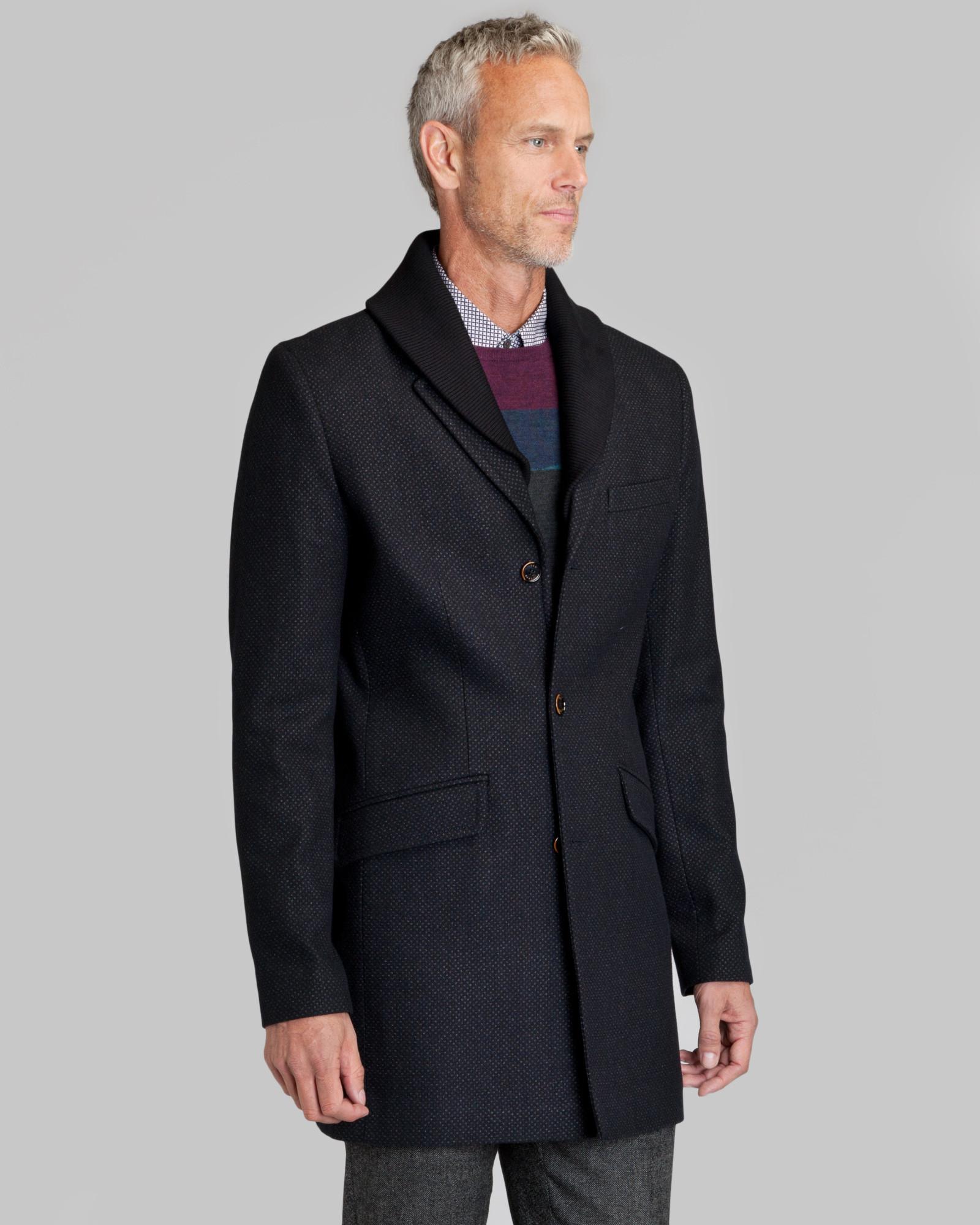 f7850ba8ebc37e Lyst - Ted Baker Balon Wool Rich Coat in Gray for Men