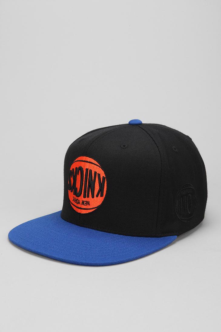 5acffba5cbb Lyst - Hall of Fame X Mitchell Ness Knicks Upsidedown Snapback Hat ...