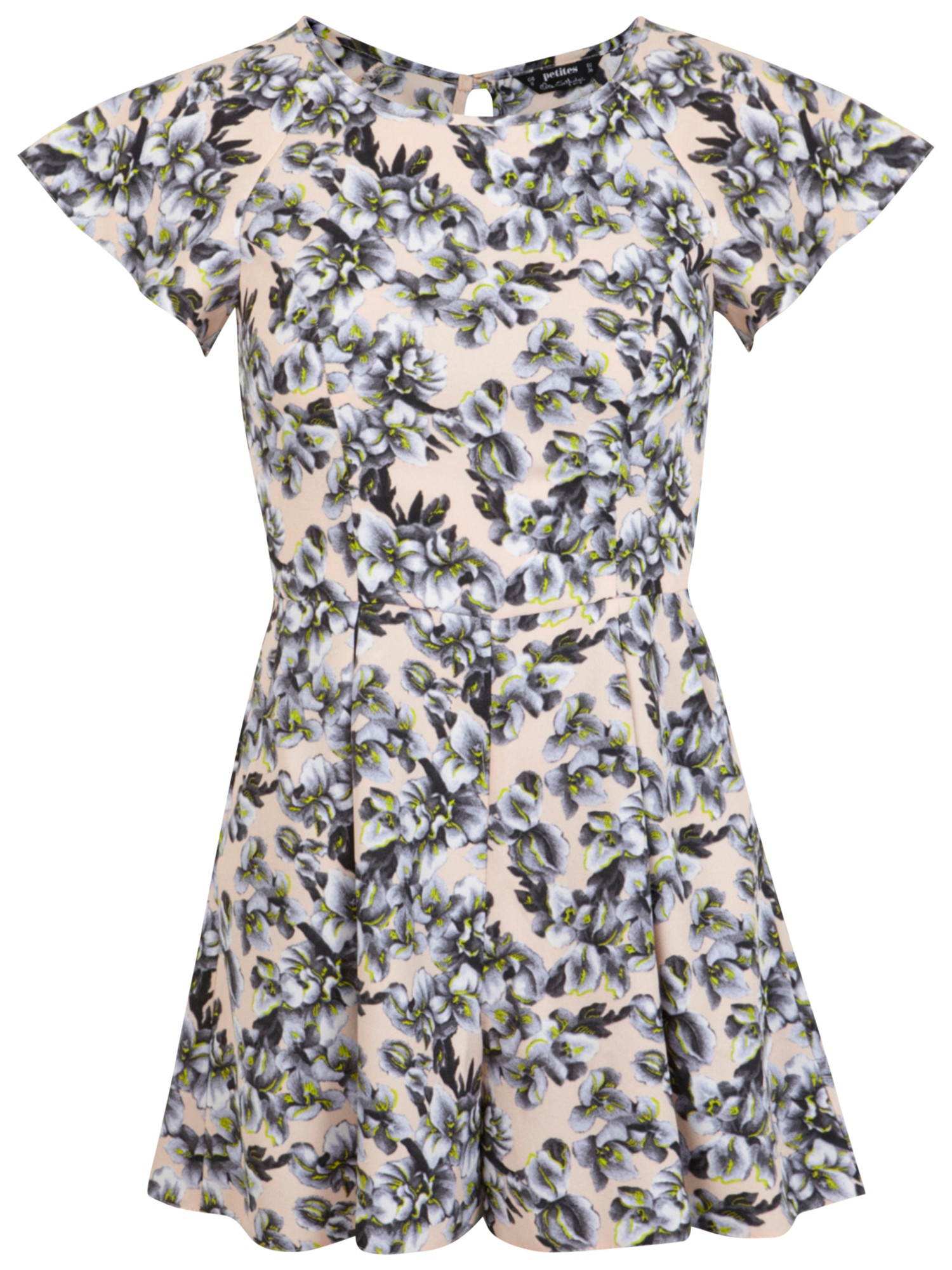 79af8e091bb Miss Selfridge Petite Floral Playsuit - Lyst