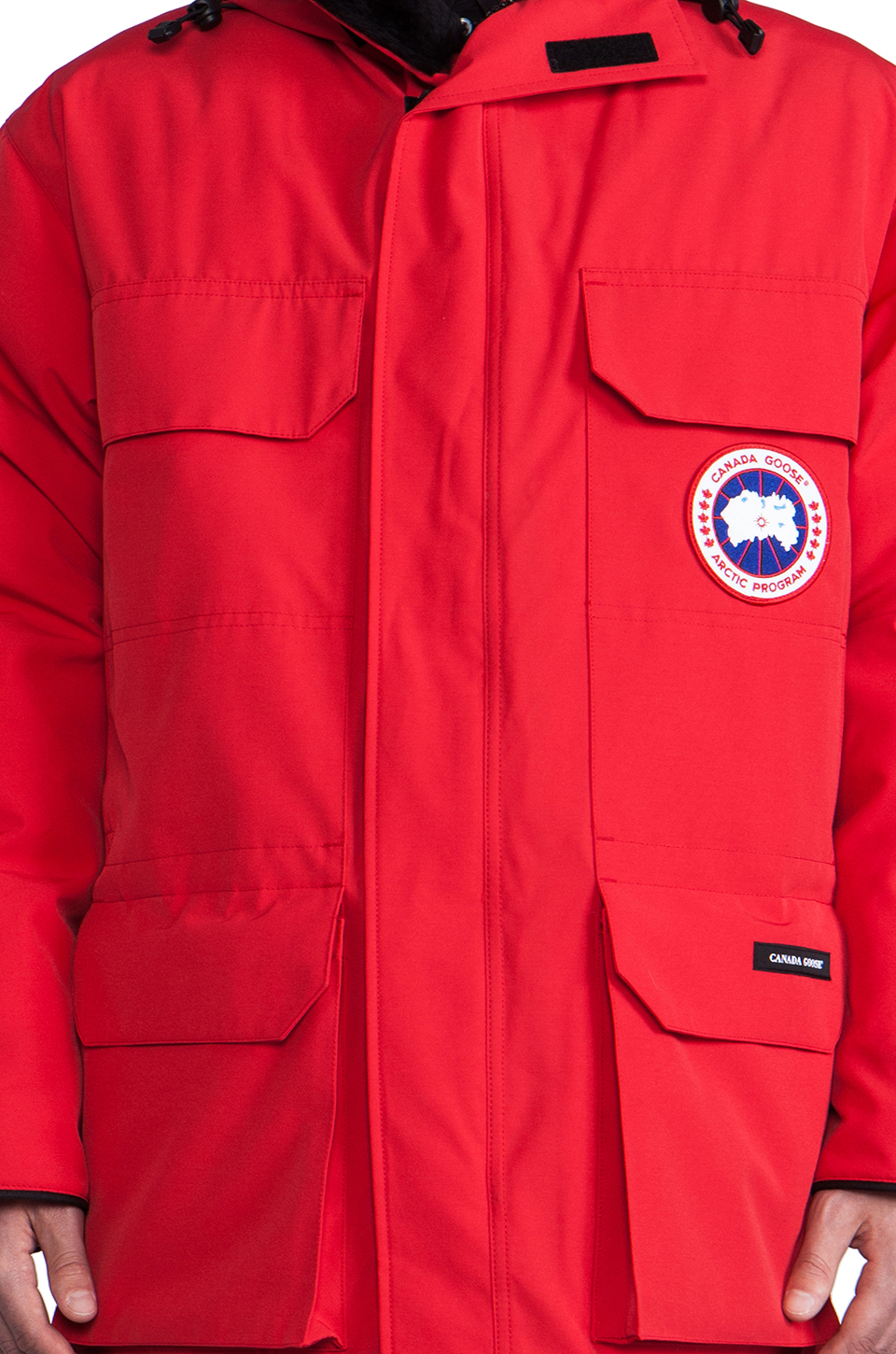 Canada Goose chilliwack parka outlet shop - Canada goose Expedition Parka With Coyote Fur Trim in Red for Men ...