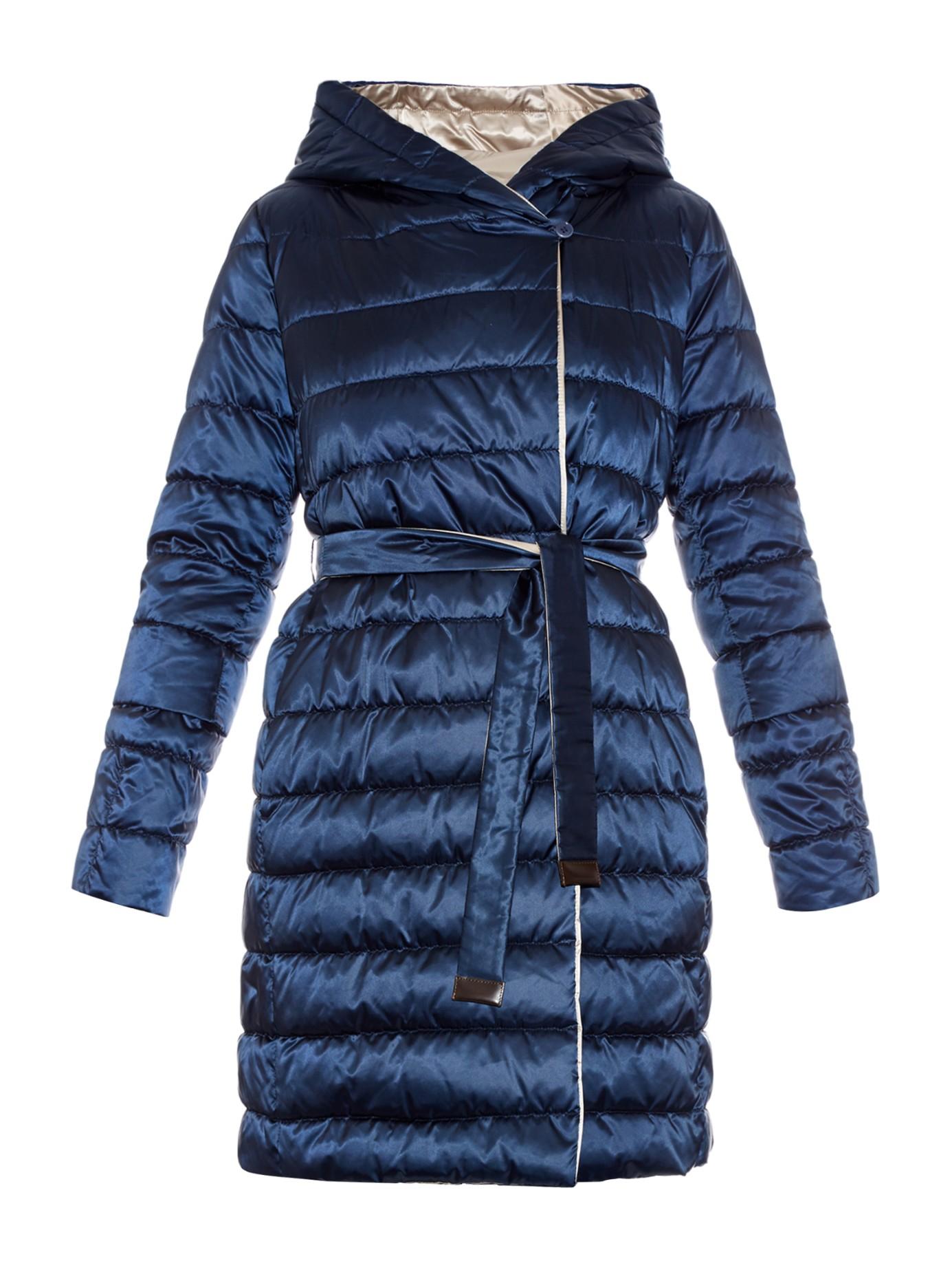 S Max Mara Cube Novef Reversible Coat In Blue Lyst