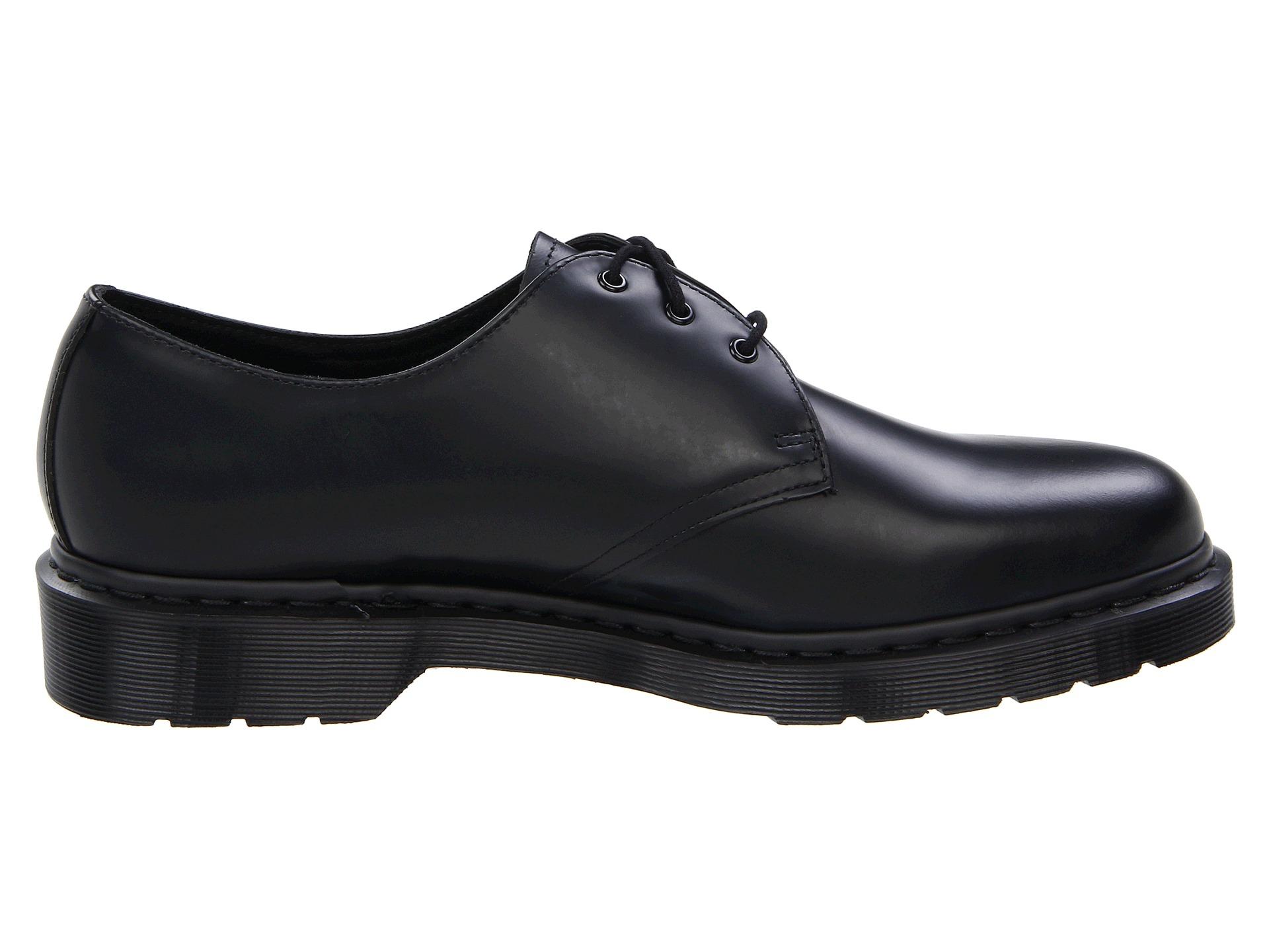 dr martens 1461 3 tie shoe in black lyst