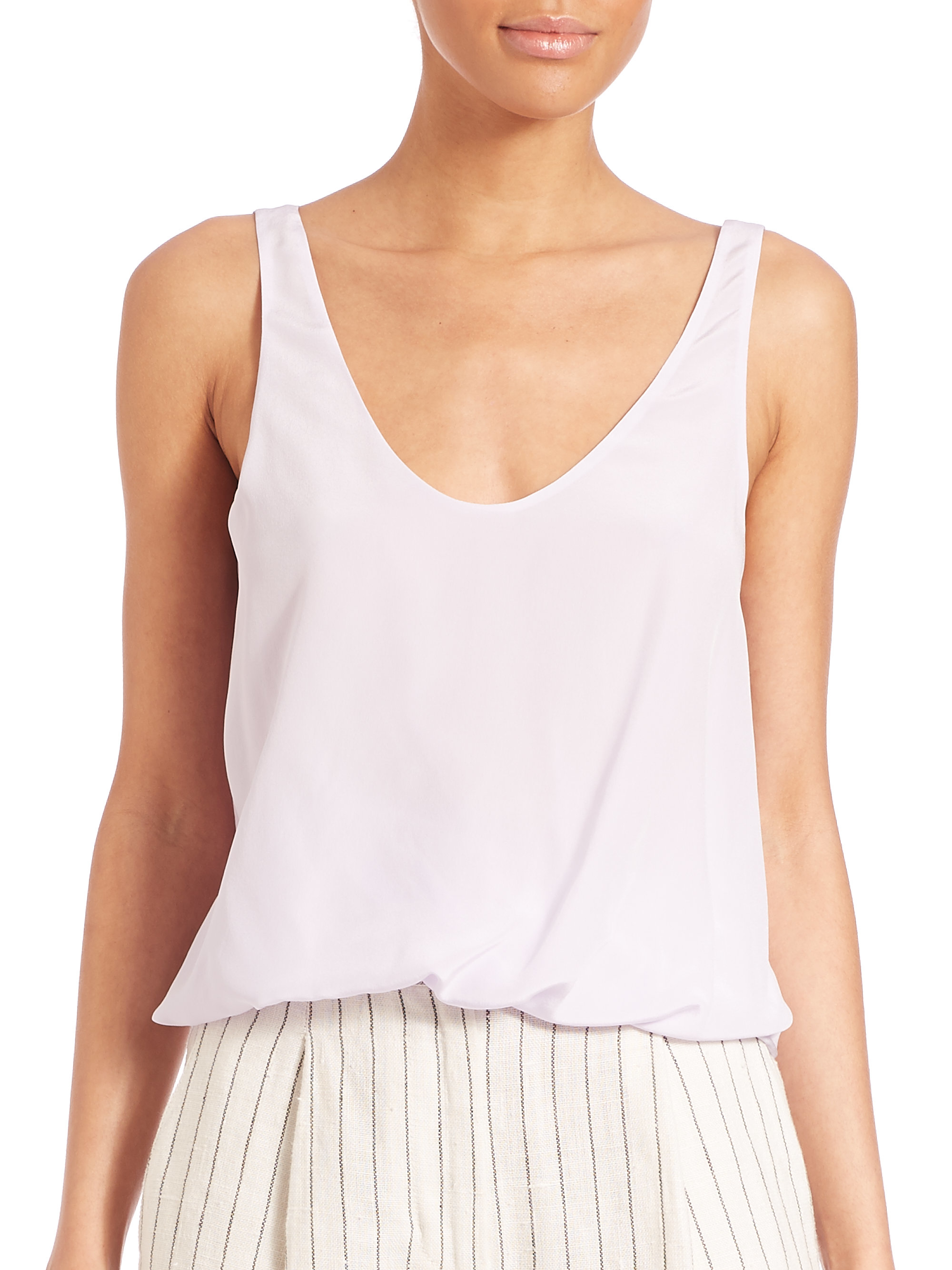 3.1 Phillip Lim Woman Asymmetric Paneled Silk-satin And Crepe Top Fuchsia Size 4 3.1 Phillip Lim 2018 Newest Online Free Shipping Supply UqBjx