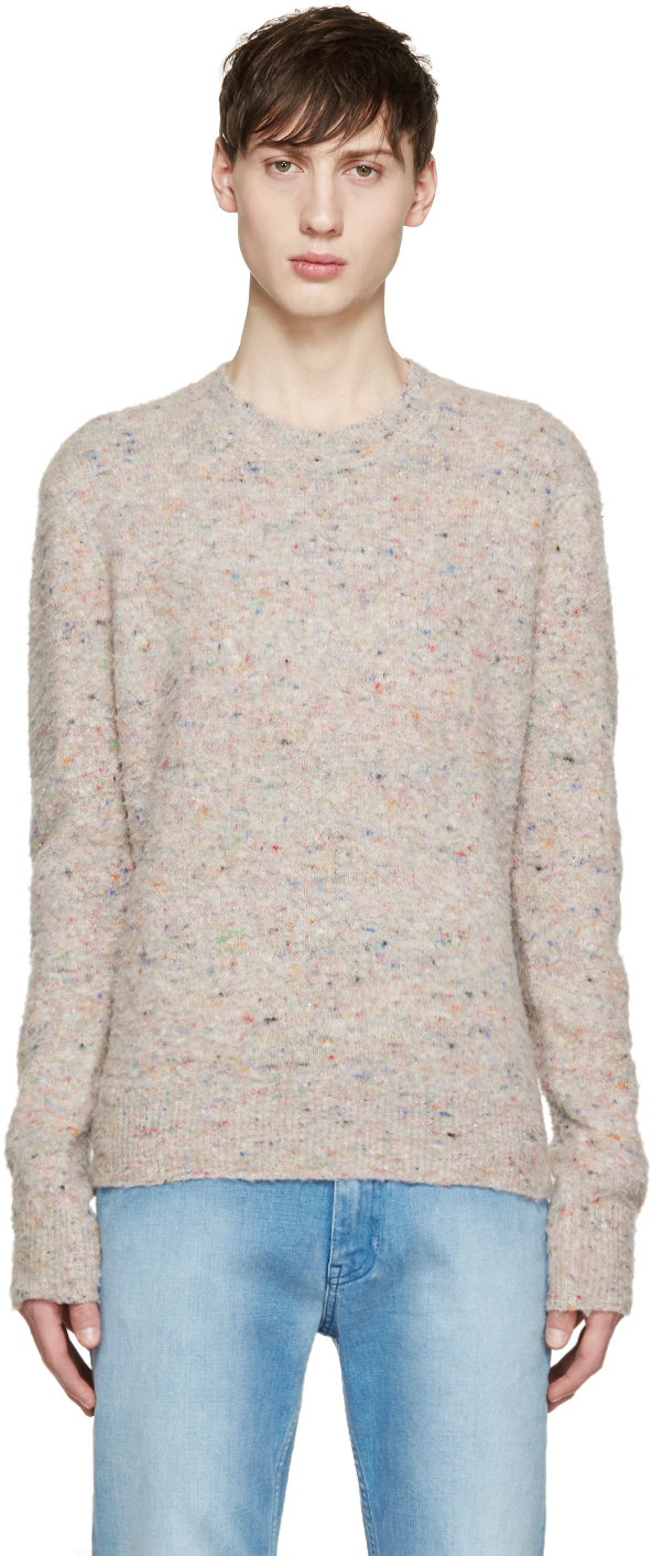 Lyst - Acne Studios Beige Peele Donegal Sweater in Natural for Men 8dbb1104346