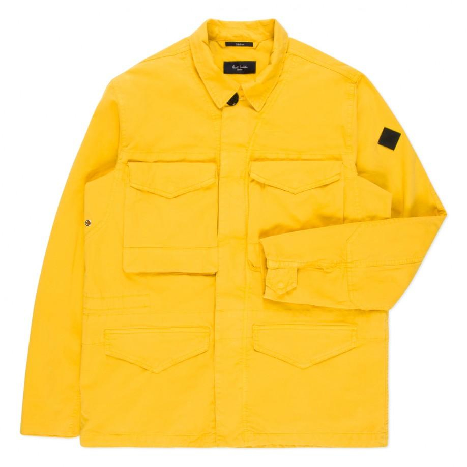 056e1d4cee1c Lyst - Paul Smith Men s Yellow Garment-dye Cotton-twill Field Jacket ...