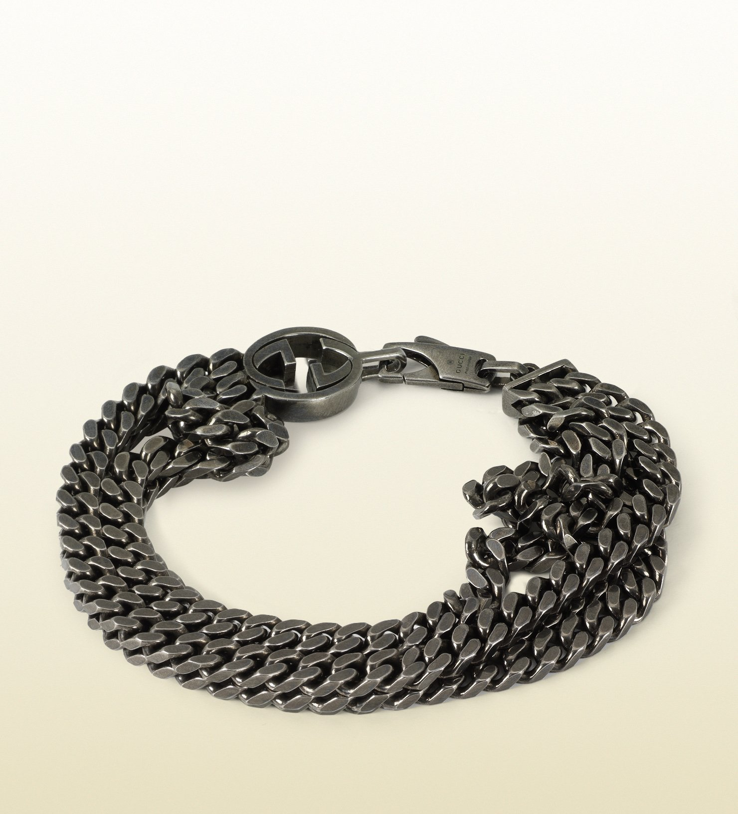 61375c46ad14 Lyst - Gucci Online Exclusive Silver Bracelet With Interlocking G ...
