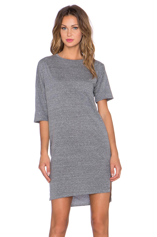 Oak Woman Asymmetric Cotton-jersey Dress Gray Size S OAK xrpNHGY