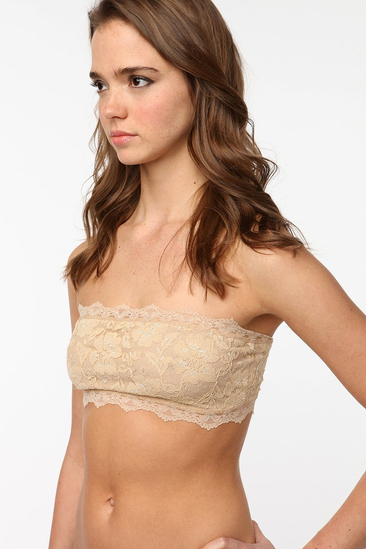 Kimchi blue Lace Bandeau Bra in Natural | Lyst