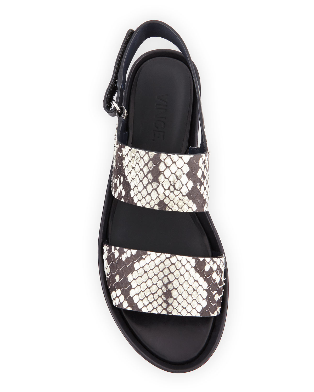 563223e2d57e Lyst - Vince Marett Snake-embossed Platform Sandal in Black